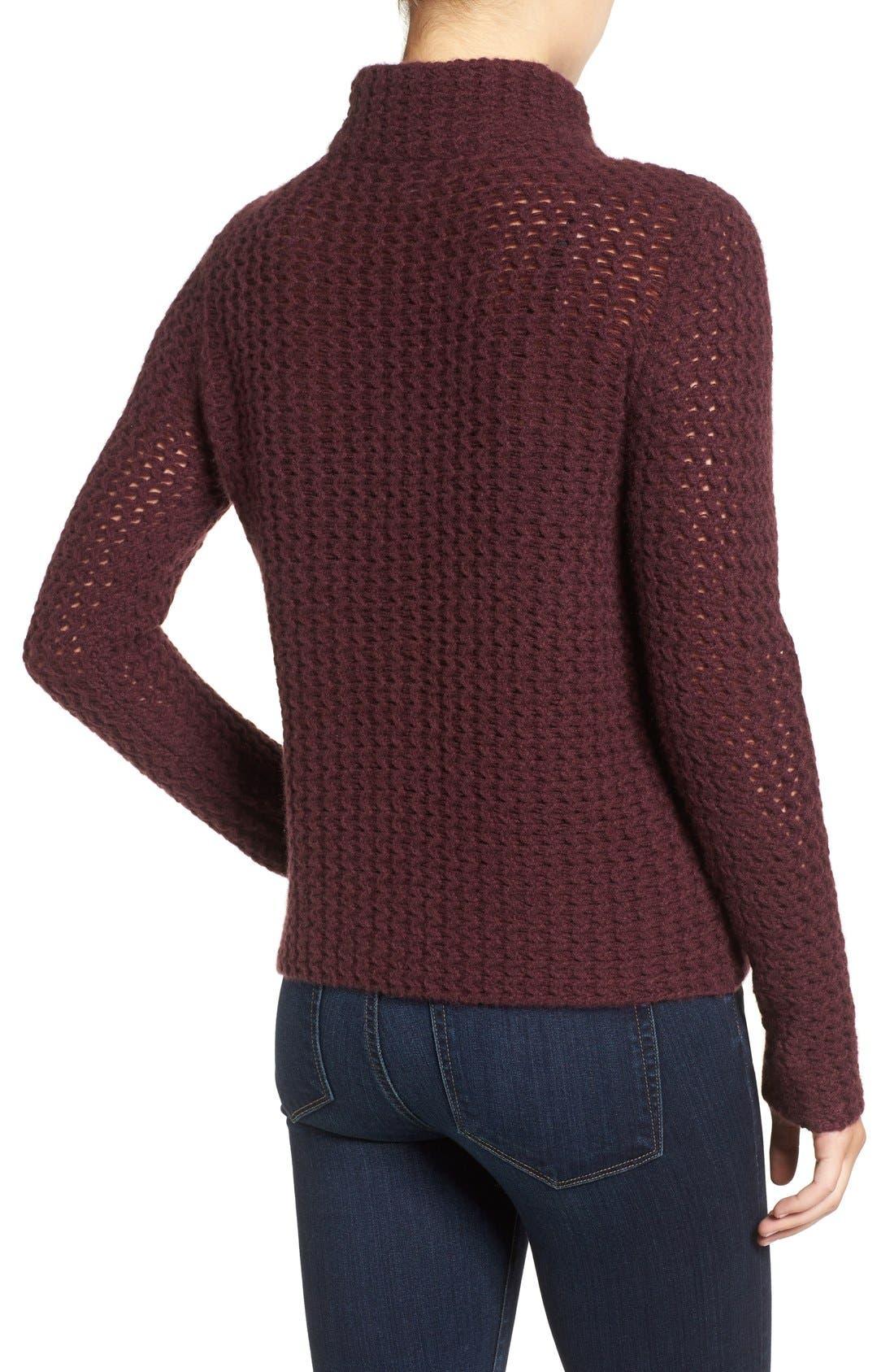 Stitch Detail Cashmere Mock Neck Sweater,                             Alternate thumbnail 15, color,