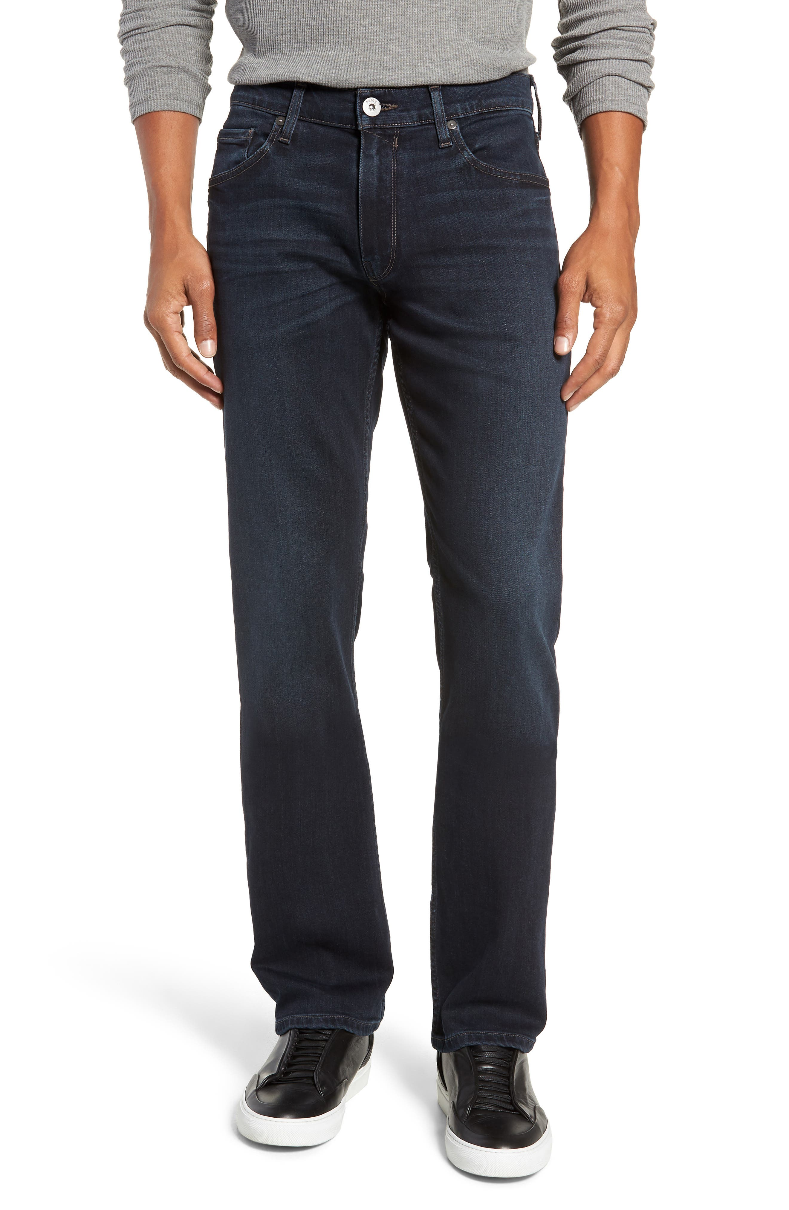 Transcend - Normandie Straight Leg Jeans,                             Main thumbnail 1, color,                             LARK