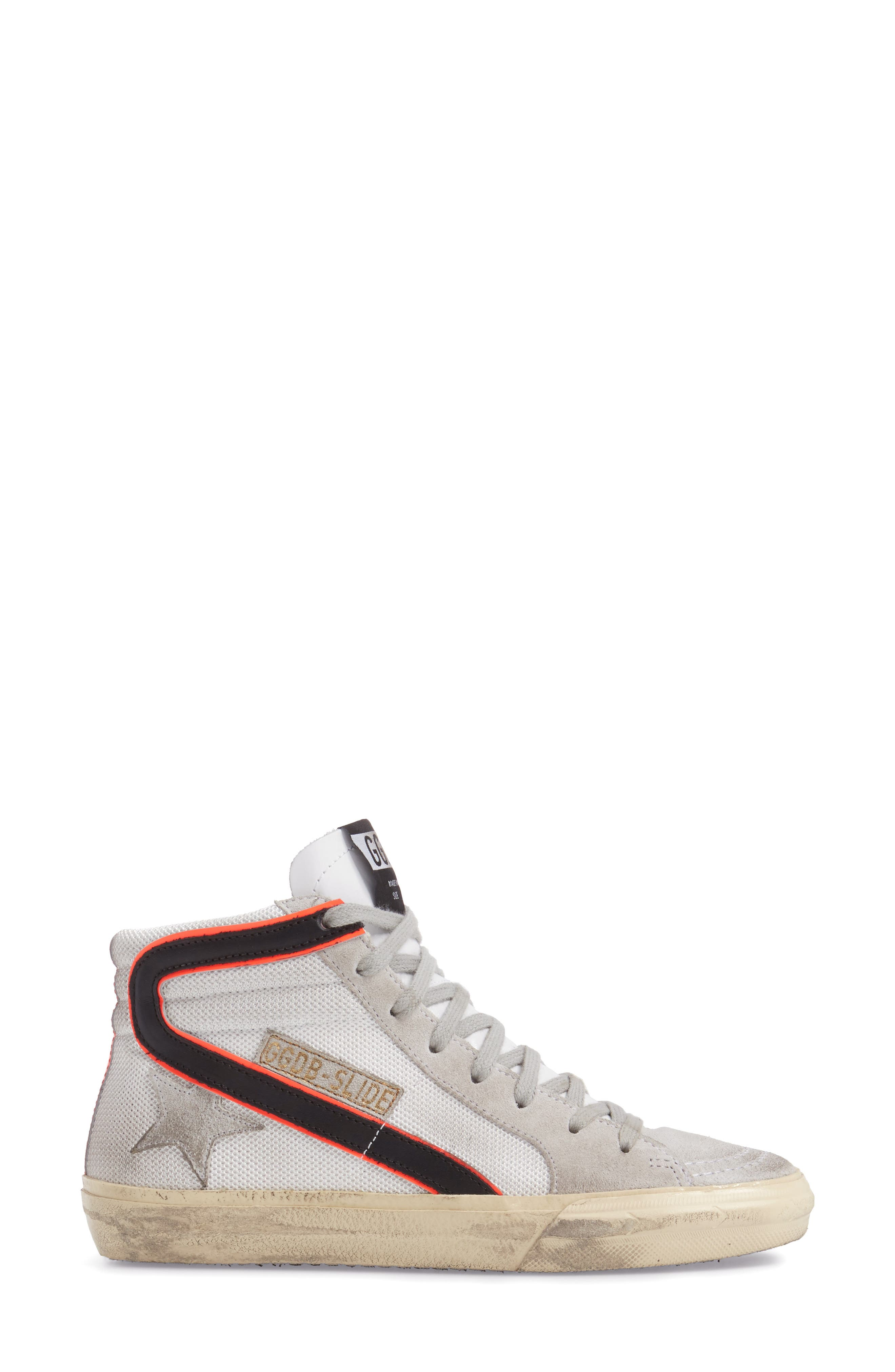 Slide High Top Sneaker,                             Alternate thumbnail 3, color,                             100