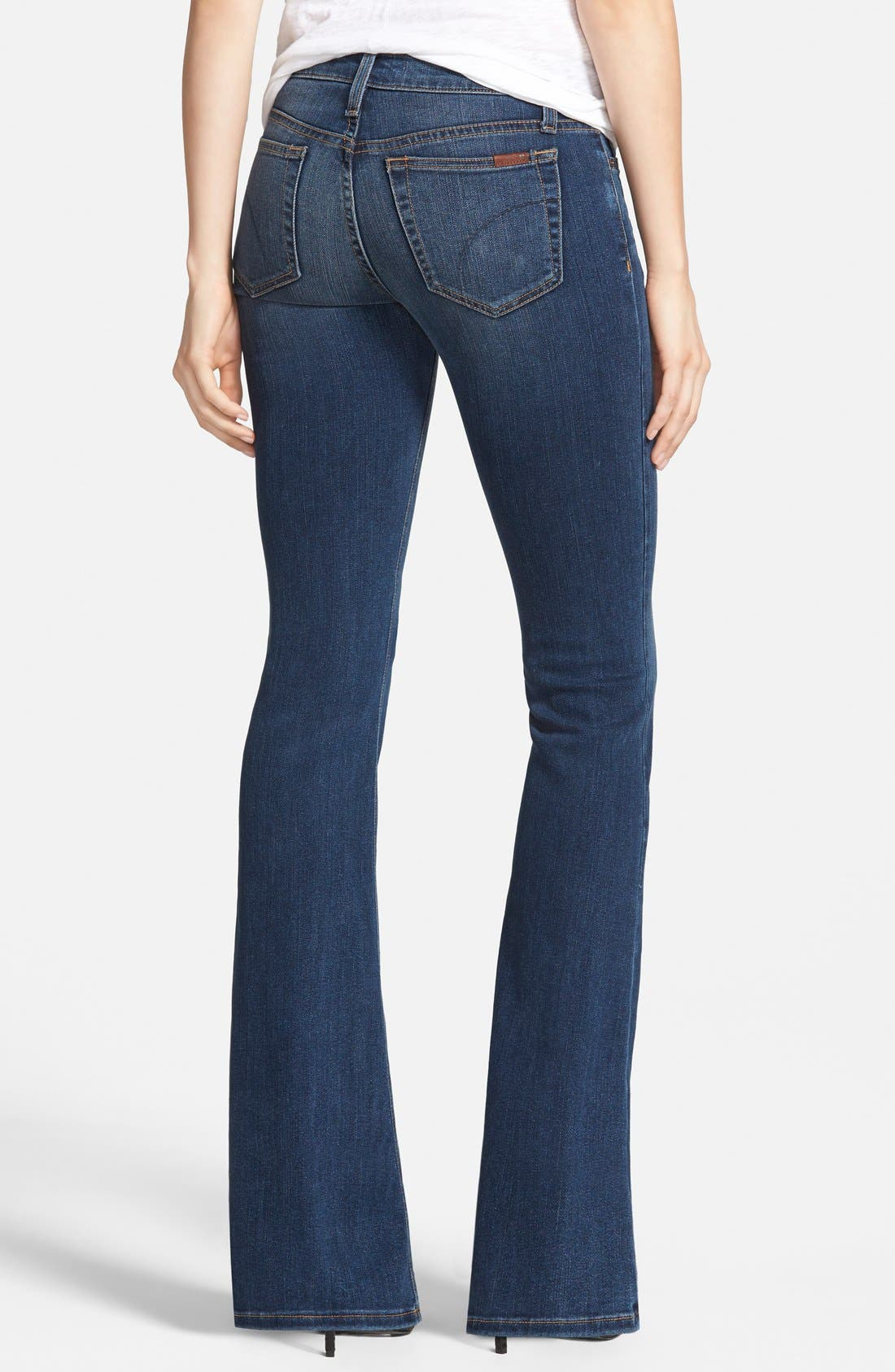 'Flawless - Icon' Flare Jeans,                             Alternate thumbnail 3, color,                             400