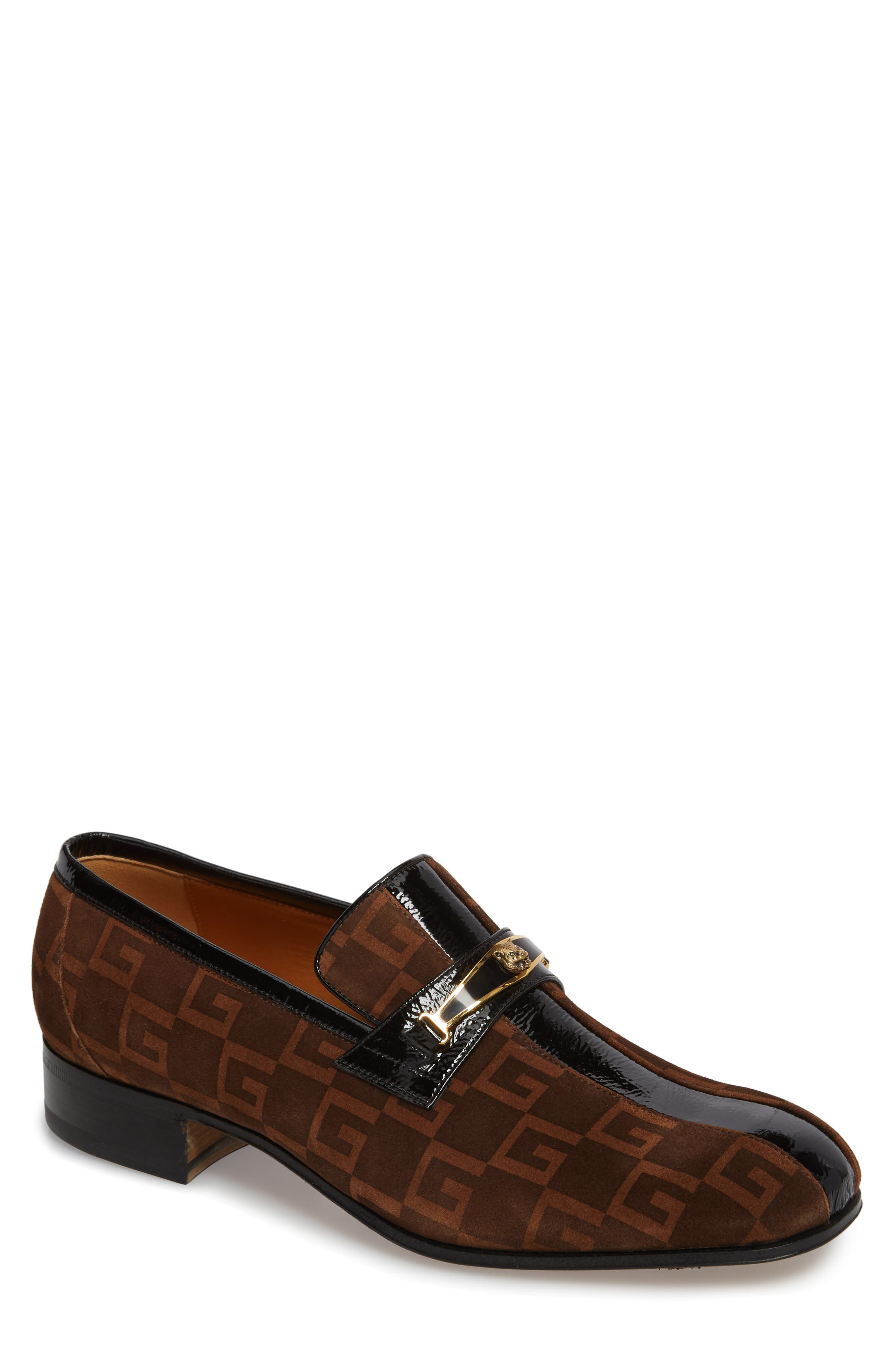 Square-G Loafer,                             Main thumbnail 1, color,                             NERO SIGARO