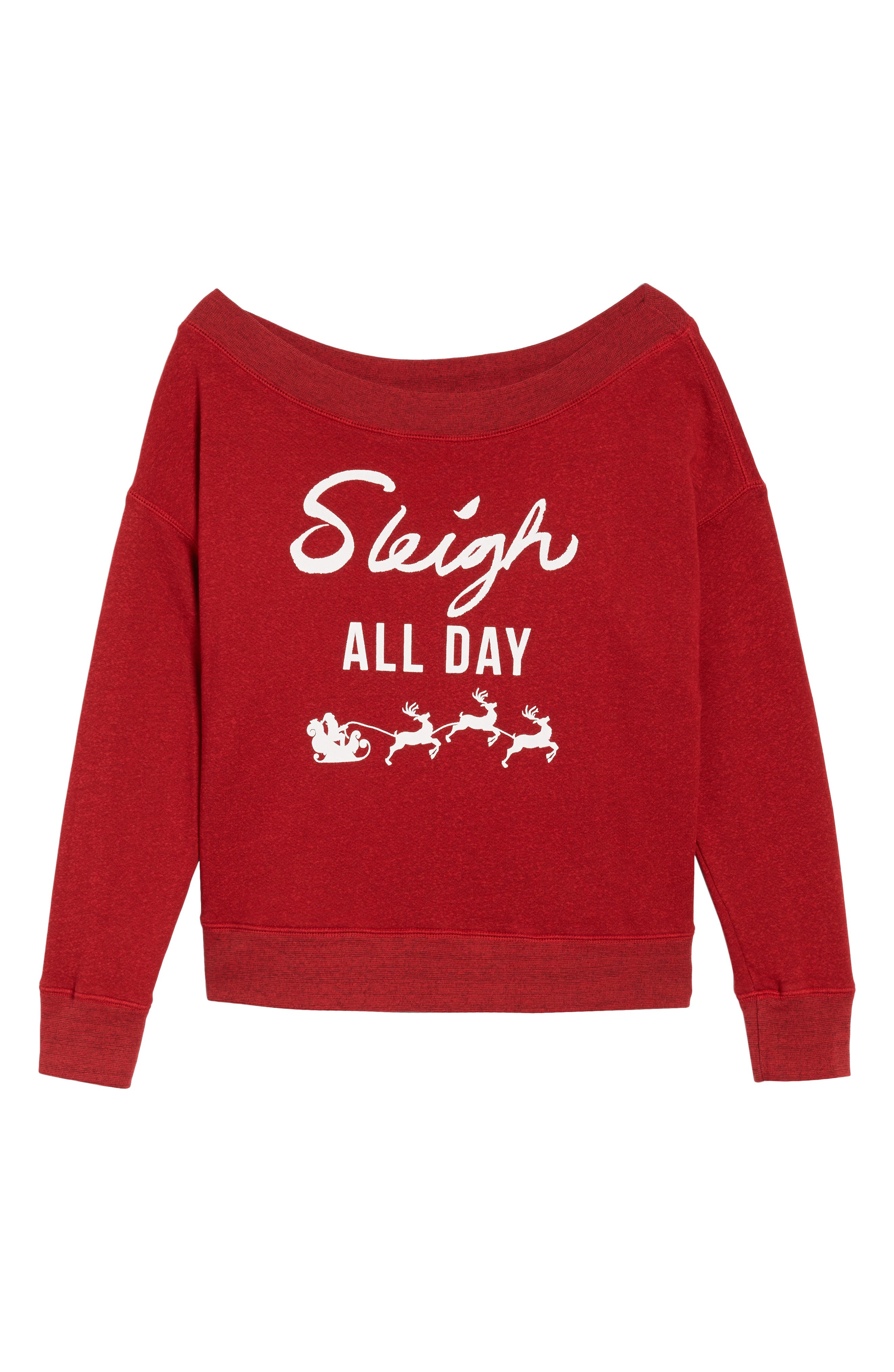 Sleigh All Day Sweatshirt,                             Alternate thumbnail 6, color,                             604