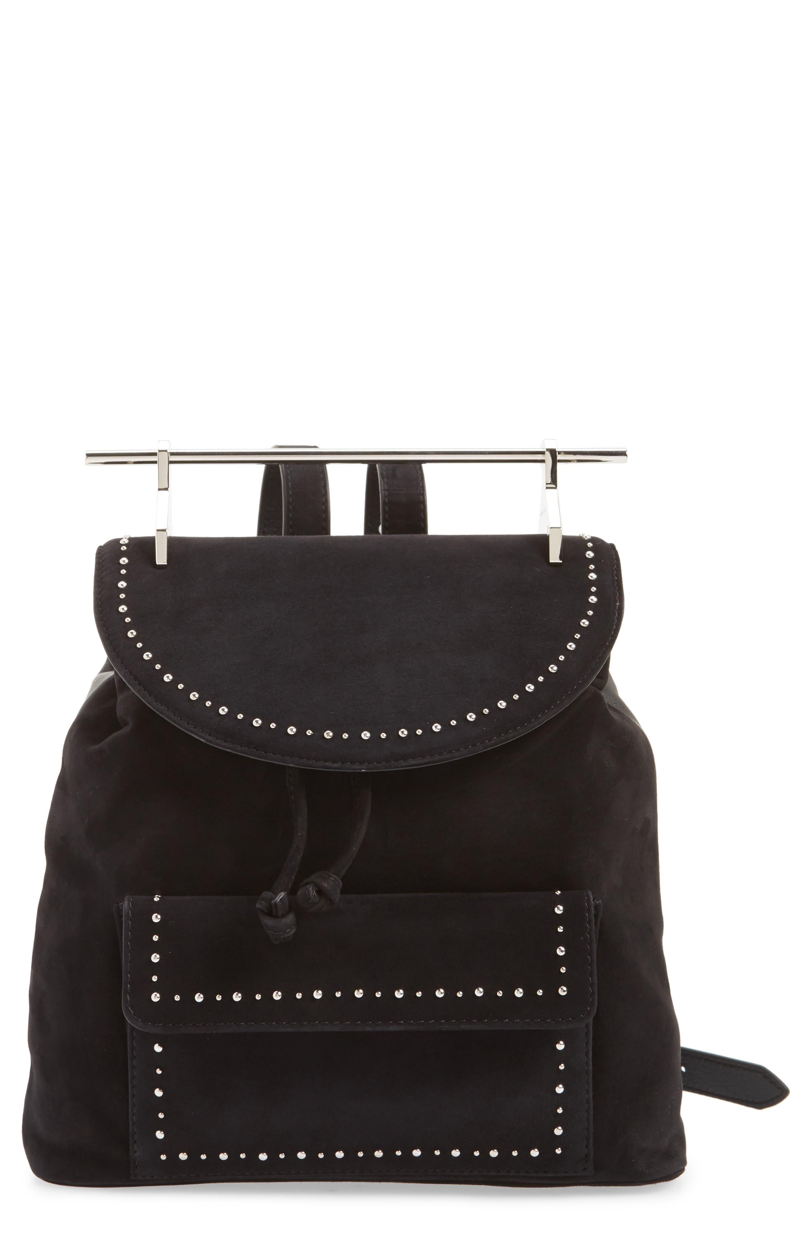 Mini Studded Suede Backpack,                             Main thumbnail 1, color,