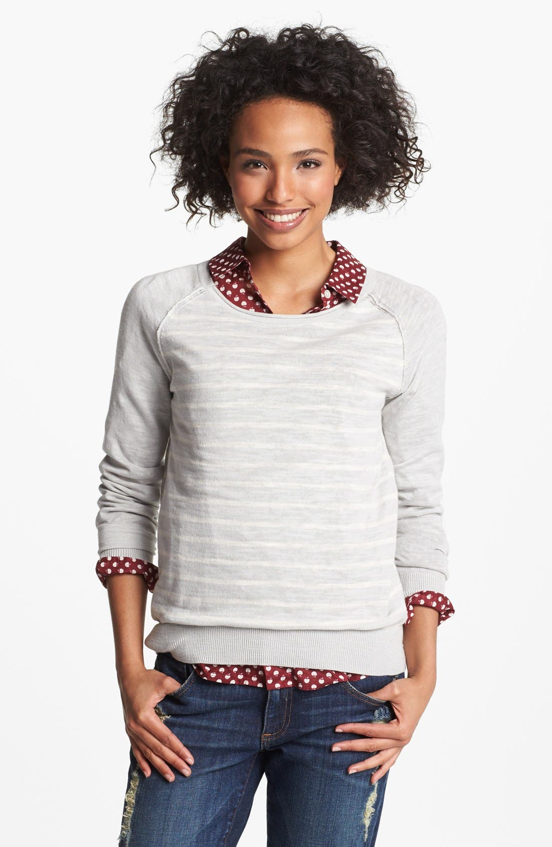 HALOGEN<SUP>®</SUP>,                             Novelty Sweater,                             Main thumbnail 1, color,                             020