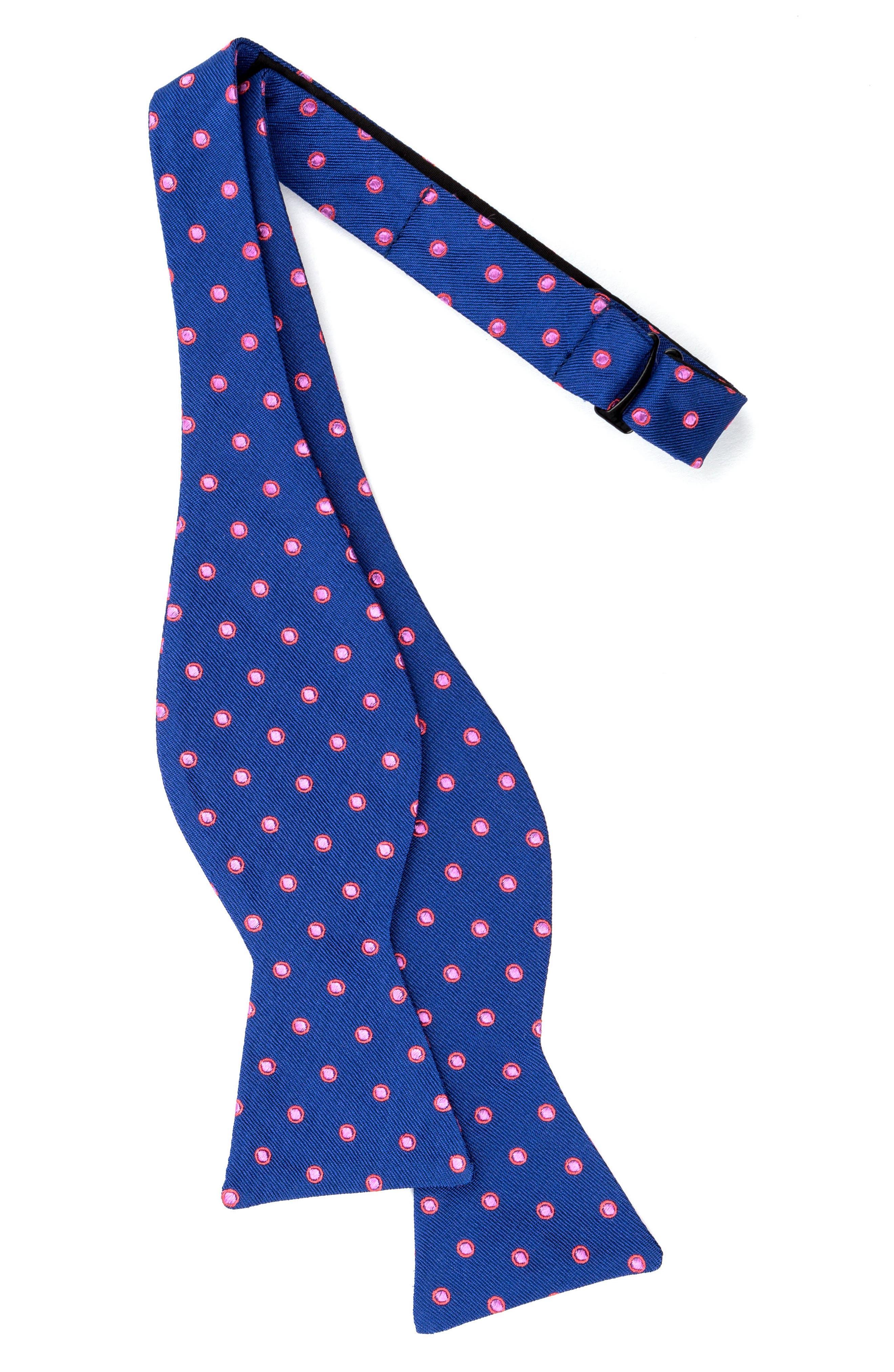 Paddington Dot Silk Bow Tie,                             Alternate thumbnail 2, color,                             411