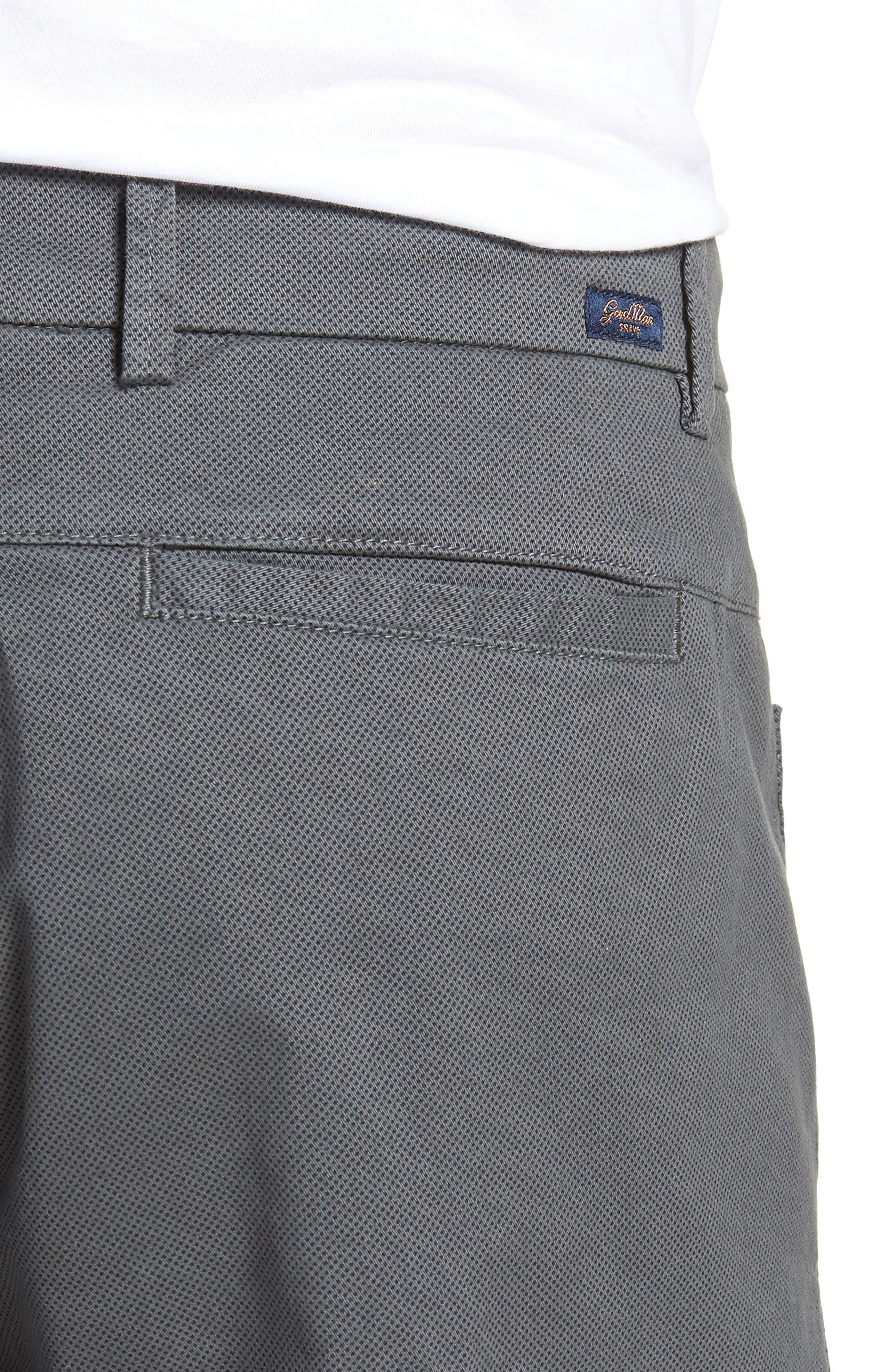 Wrap Microdot Stretch Chino Shorts,                             Alternate thumbnail 4, color,                             051