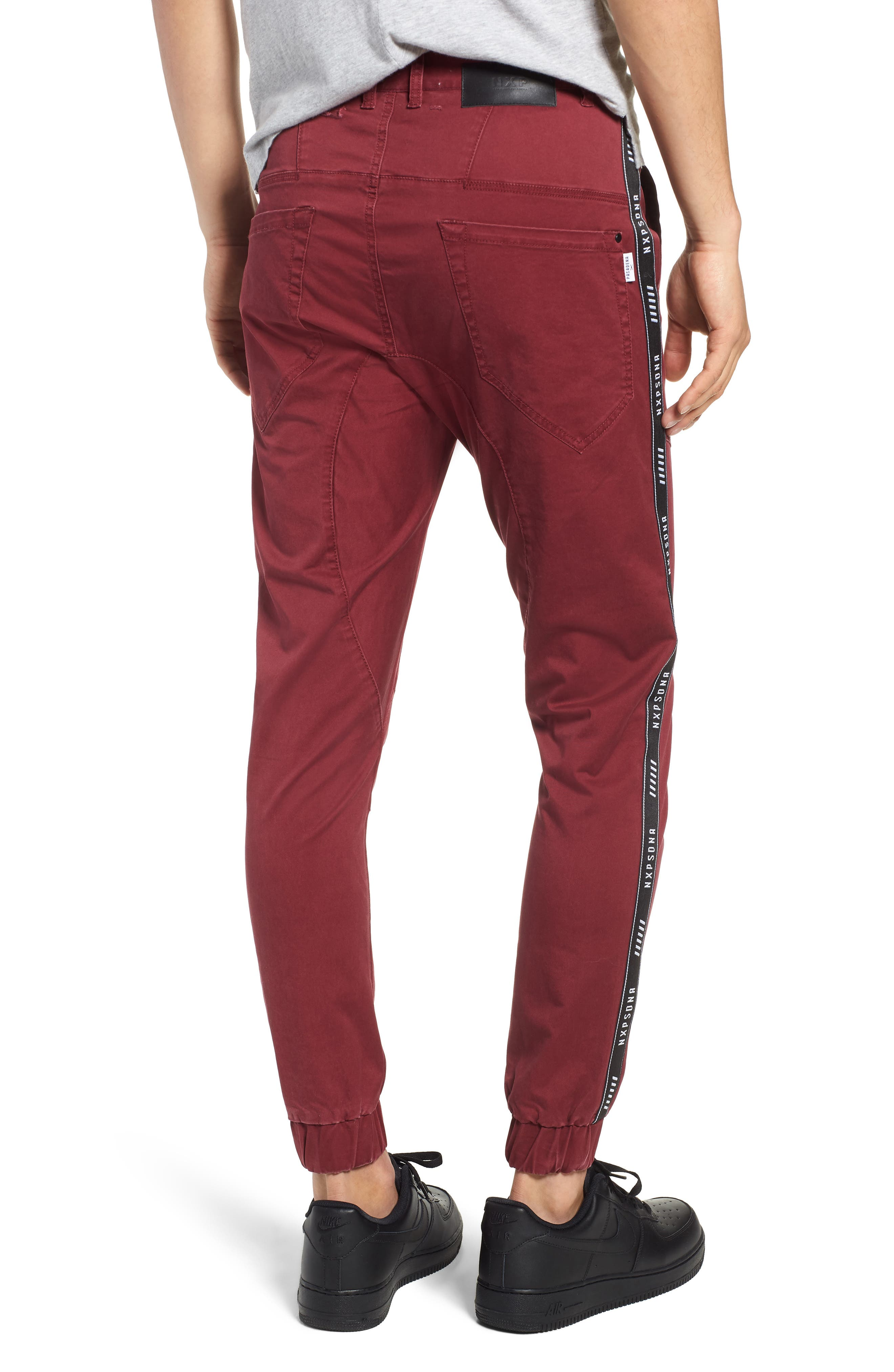 Firebrand Taped Chinos,                             Alternate thumbnail 2, color,                             BORDEAUX