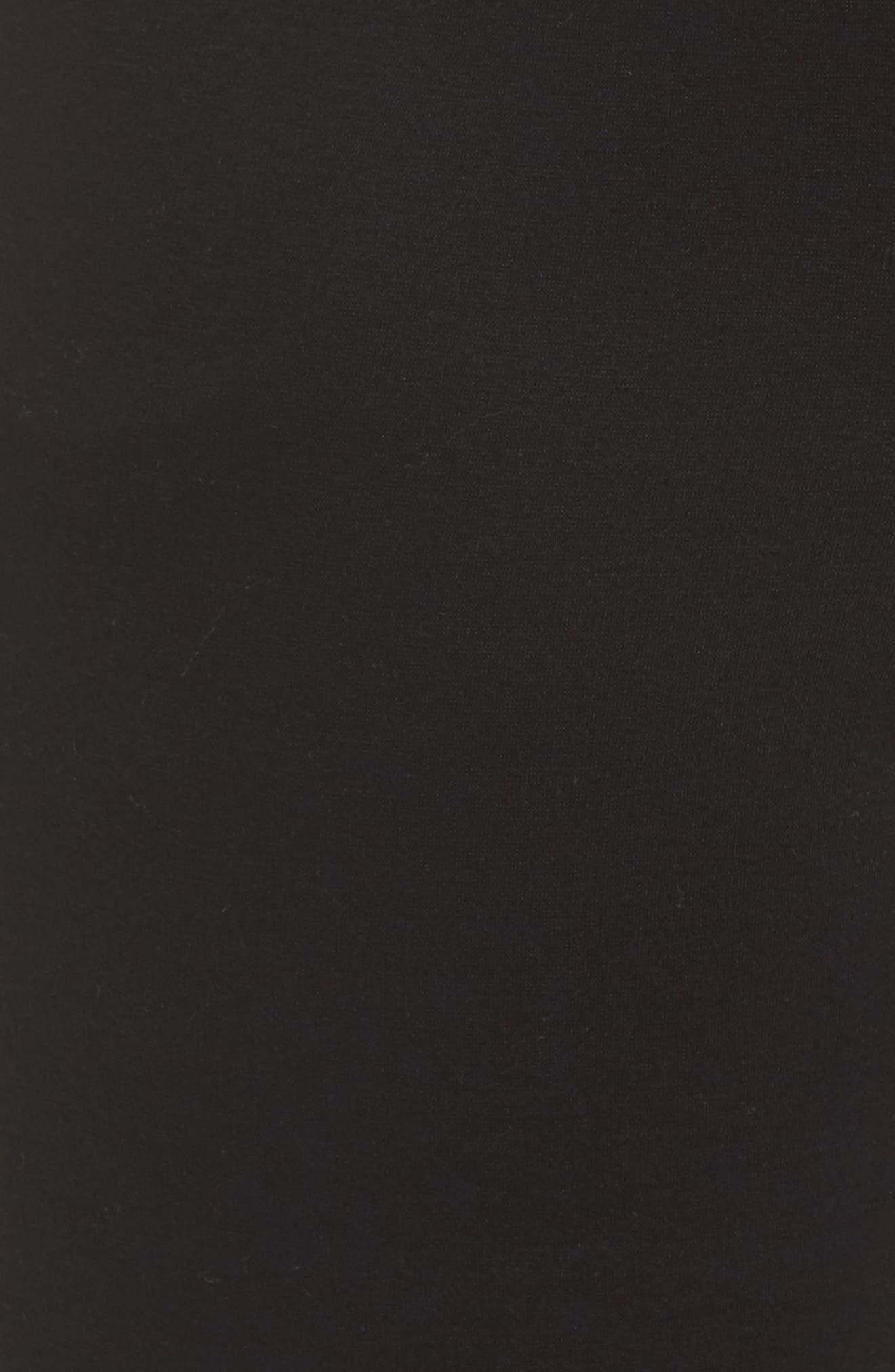 Penny Fleece Sweatpants,                             Alternate thumbnail 5, color,                             BLACK