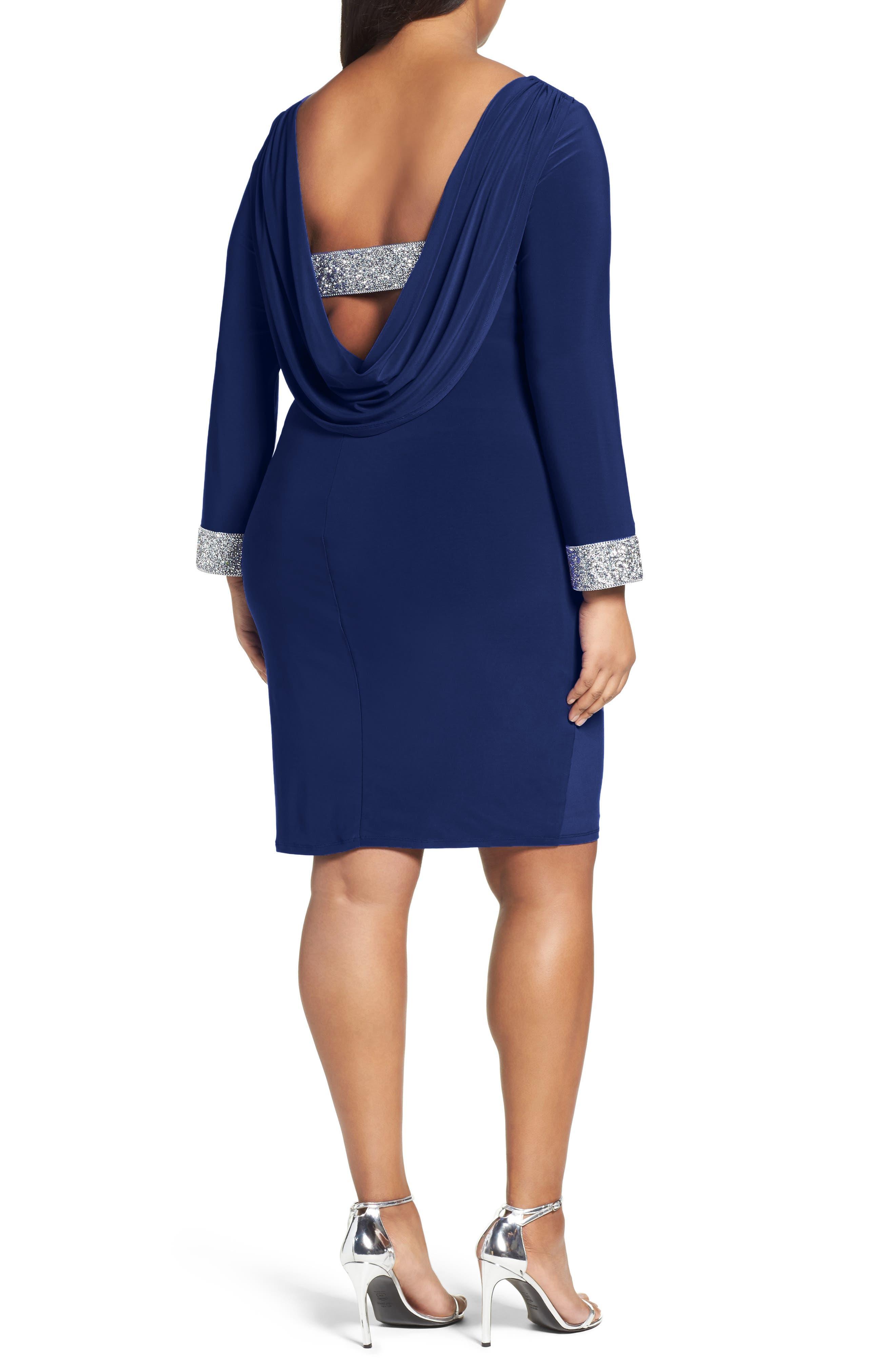 Open Back Sheath Dress,                             Alternate thumbnail 4, color,
