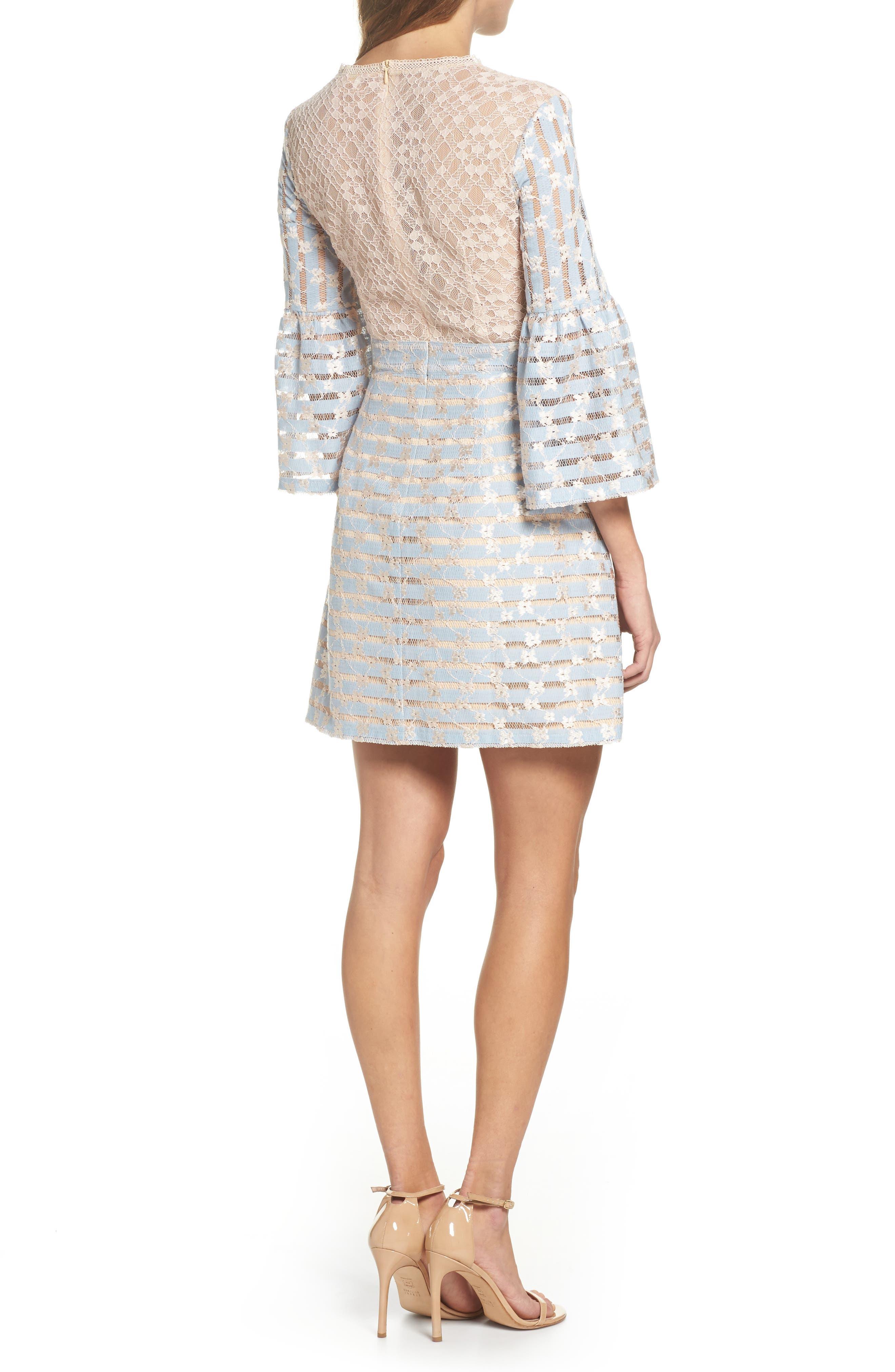 Cordelia Bell Sleeve Minidress,                             Alternate thumbnail 2, color,                             400