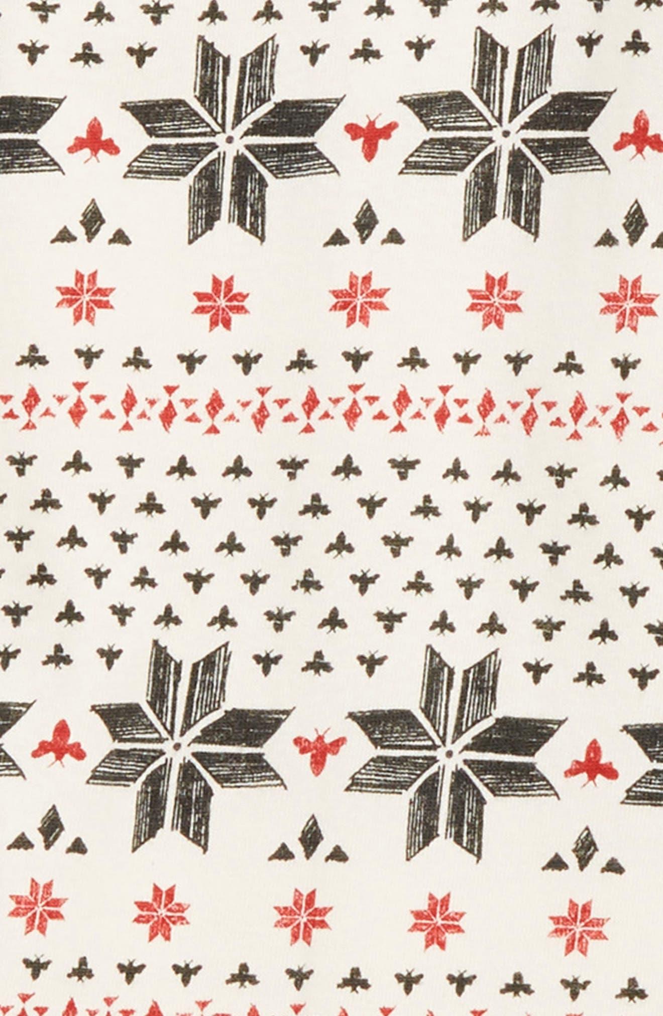 Fair Isle Kimono Romper & Hat Set,                             Alternate thumbnail 2, color,                             IVORY