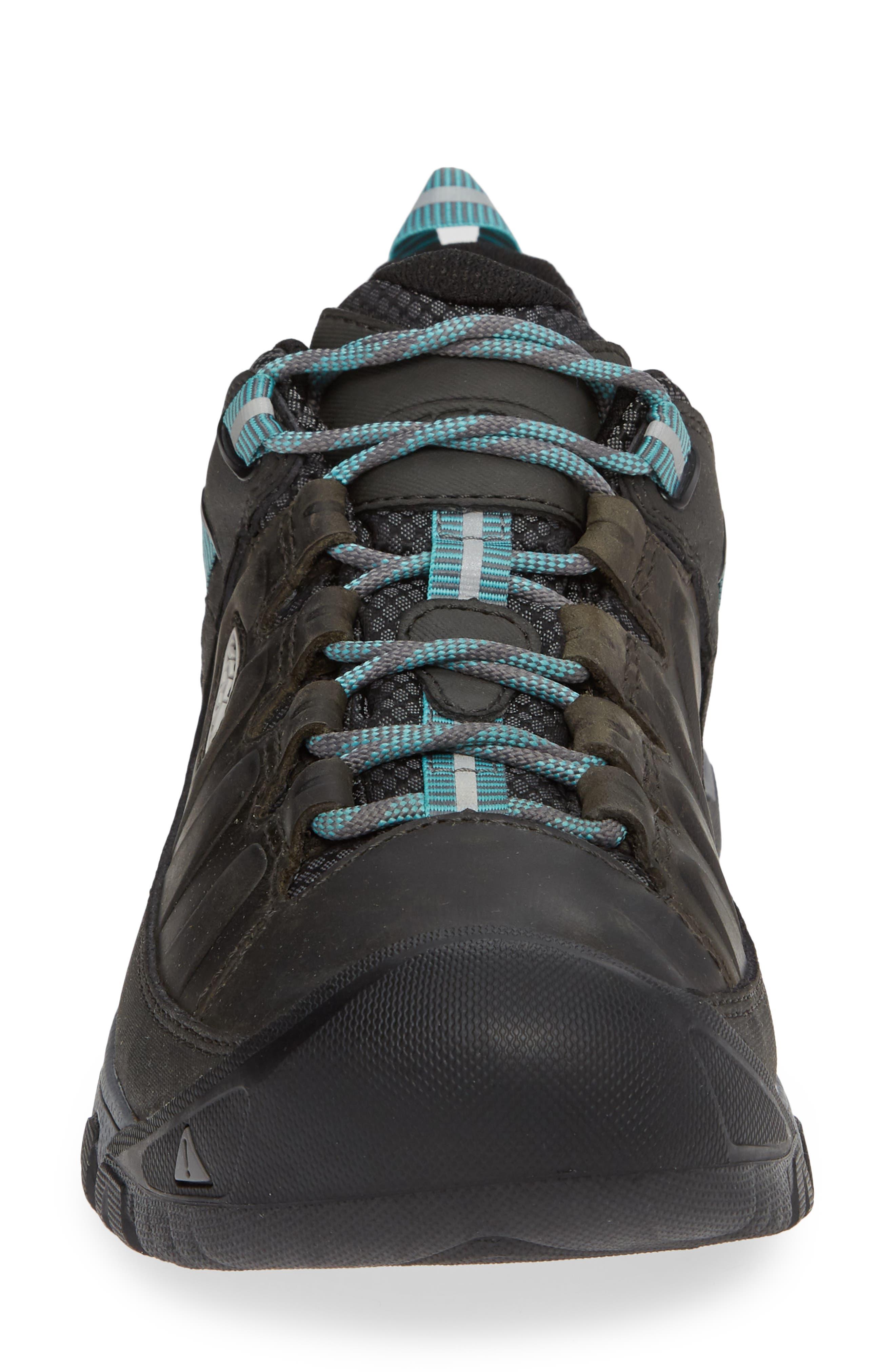 Targhee III Waterproof Hiking Shoe,                             Alternate thumbnail 4, color,                             ALCATRAZ/ TURQUOISE LEATHER