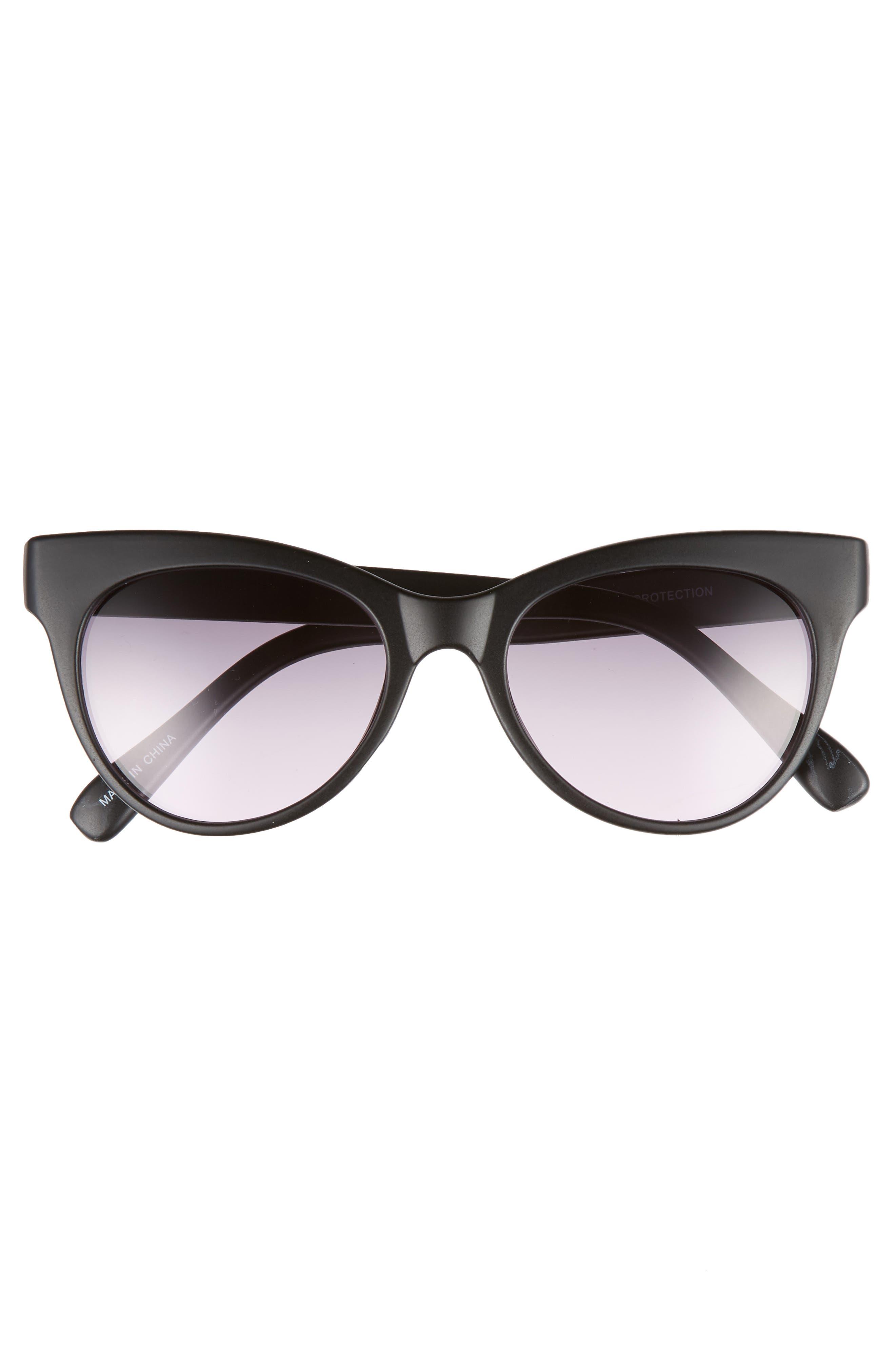 56mm Cat Eye Sunglasses,                             Alternate thumbnail 3, color,                             001
