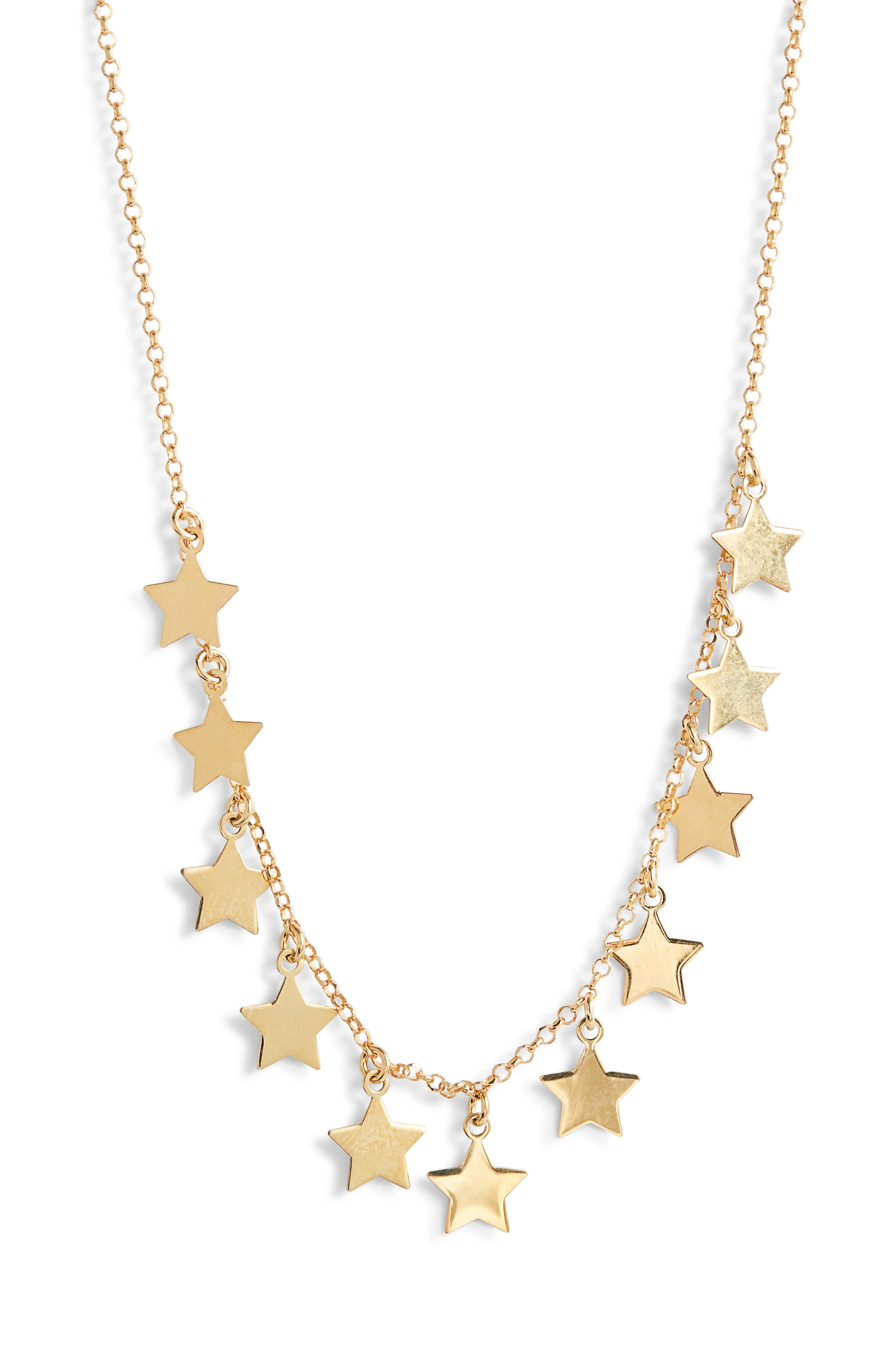 ARGENTO VIVO Star Charm Necklace, Main, color, 710