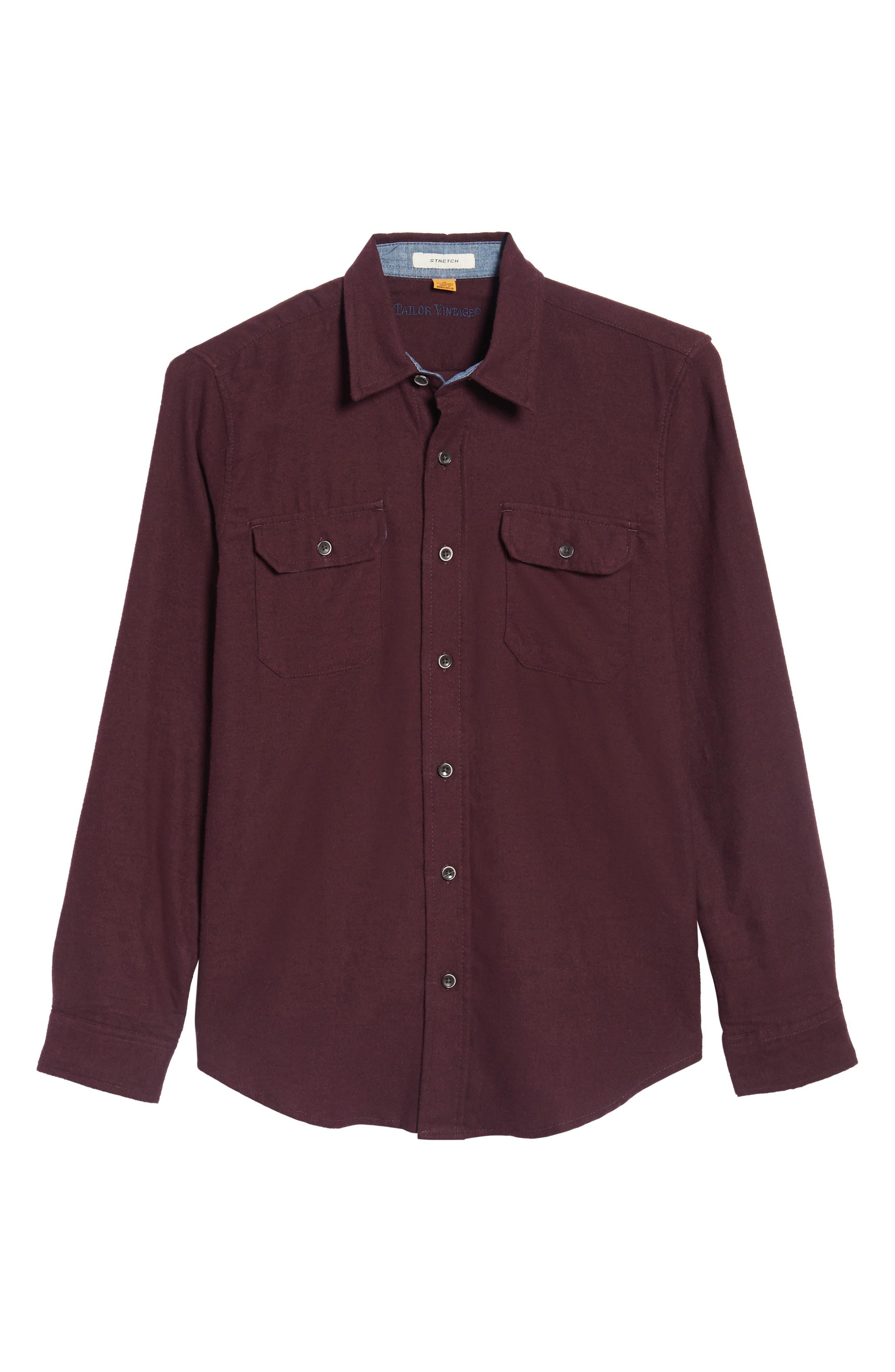 Heather Flannel Shirt,                             Alternate thumbnail 12, color,