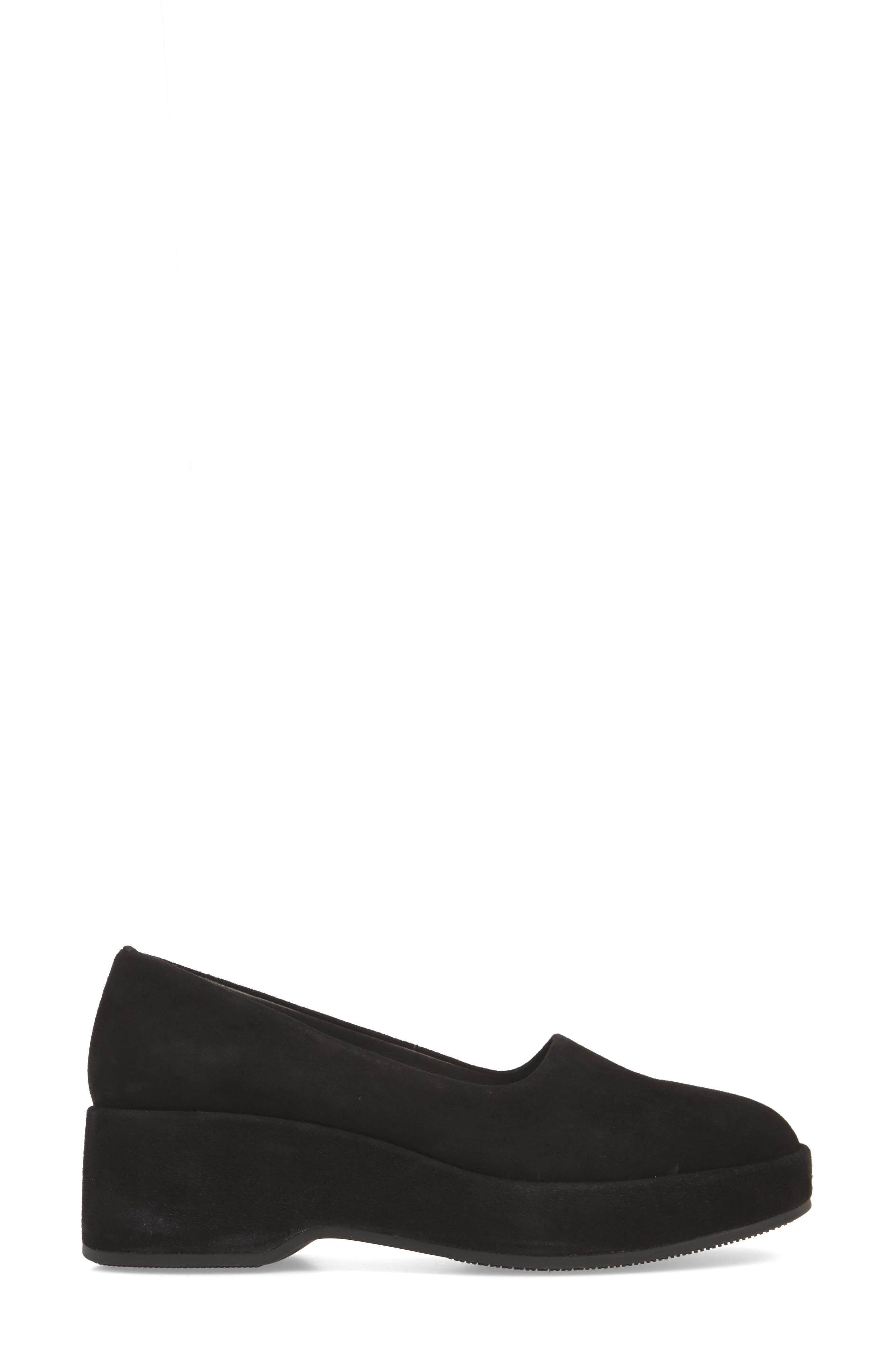 Sisea Platform Shoe,                             Alternate thumbnail 3, color,                             BLACK LEATHER