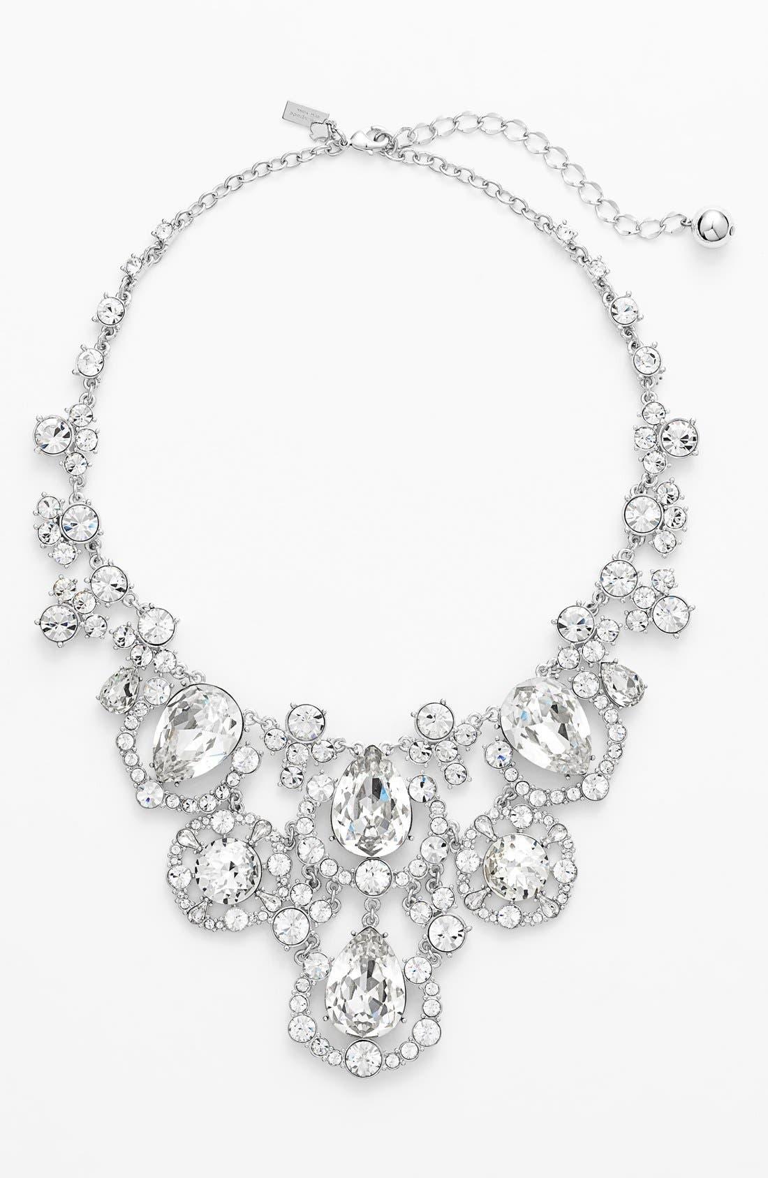'grand debut' bib necklace, Main, color, 042