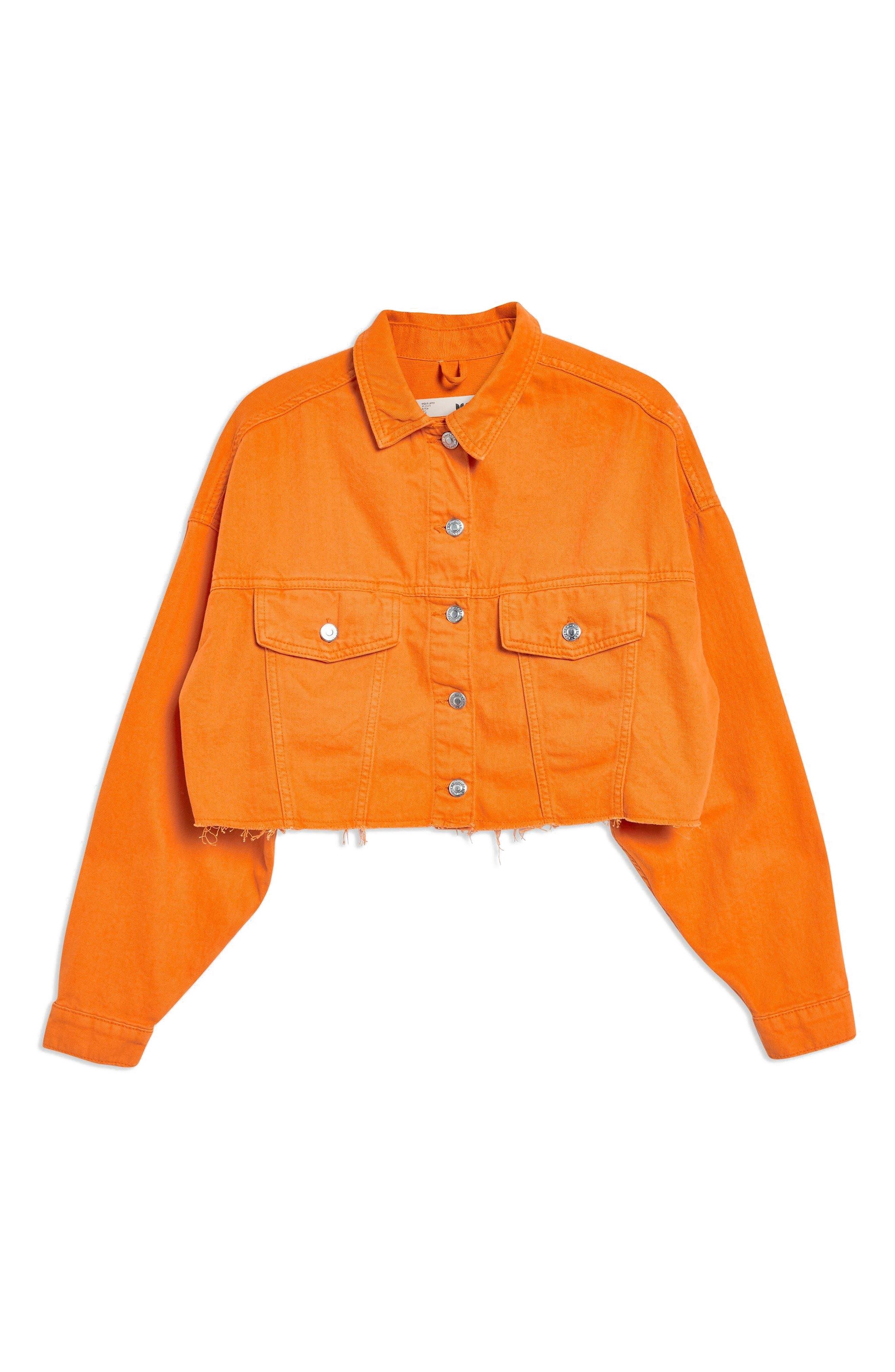 MOTO Hacked Crop Denim Jacket,                             Alternate thumbnail 4, color,                             800