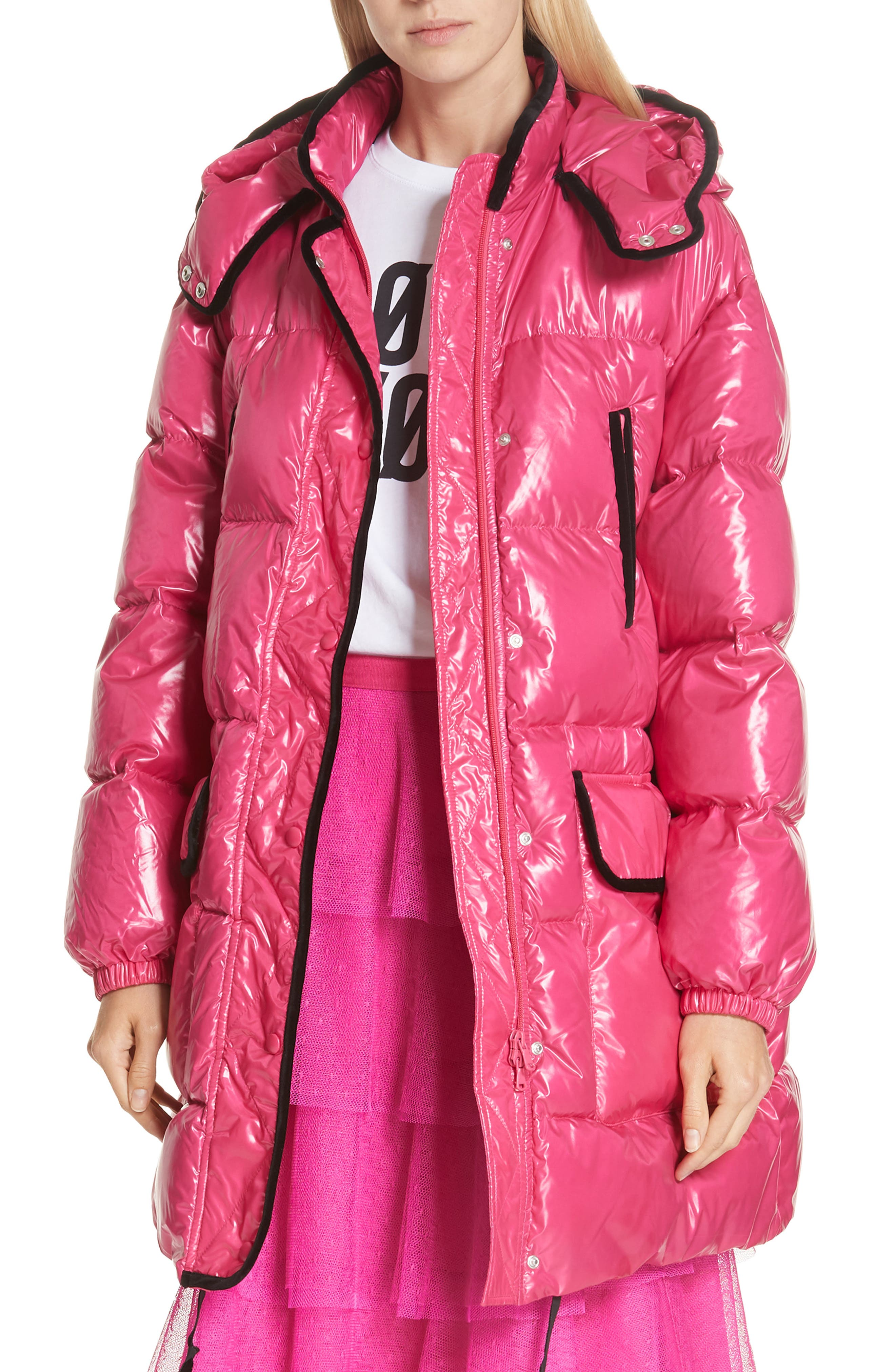 RED VALENTINO,                             Puffer Coat,                             Main thumbnail 1, color,                             650