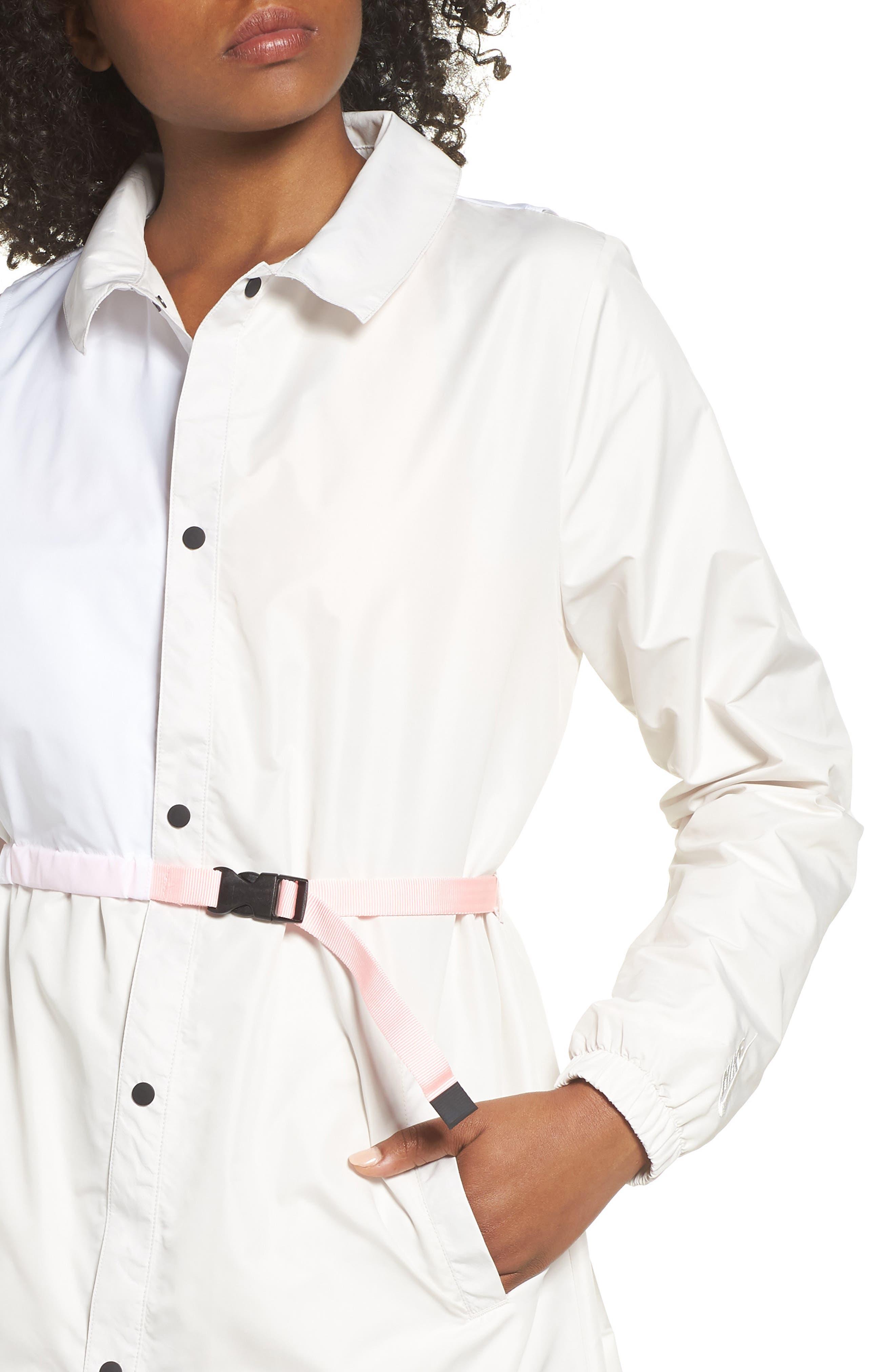 Hybrid Coaches Jacket/Dress,                             Alternate thumbnail 4, color,                             PHANTOM/ WHITE/ ARCTIC PUNCH