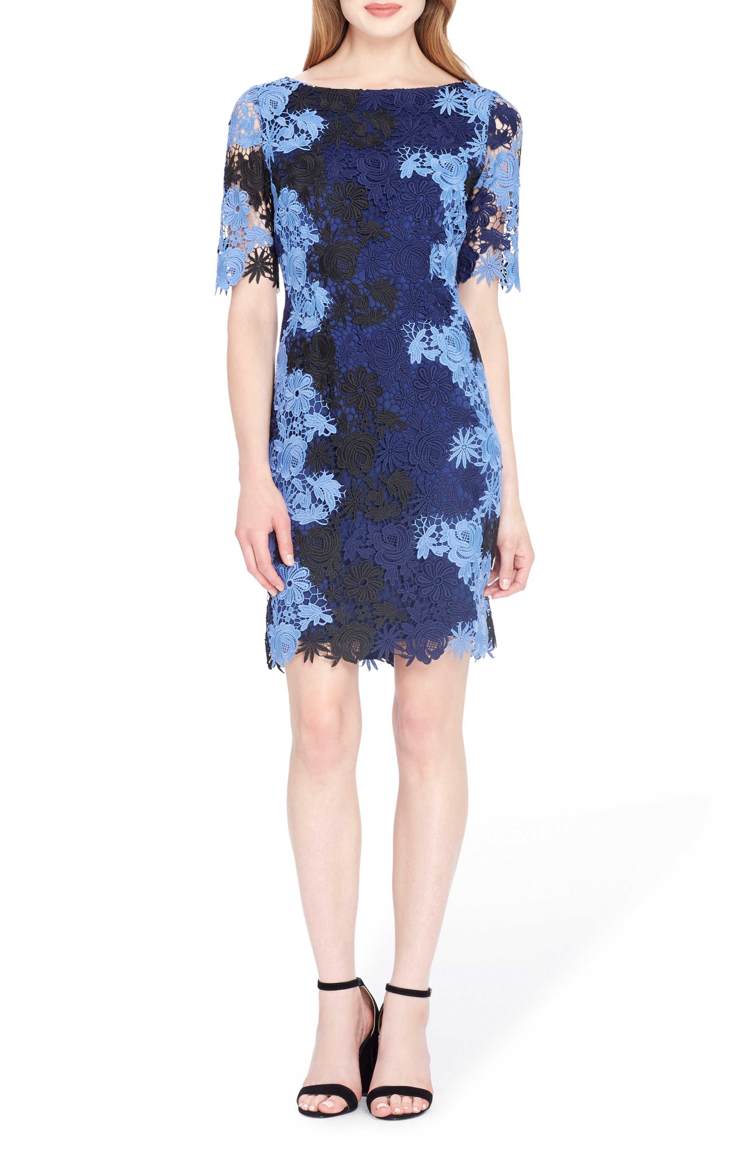 Lace Sheath Dress,                             Main thumbnail 1, color,                             498