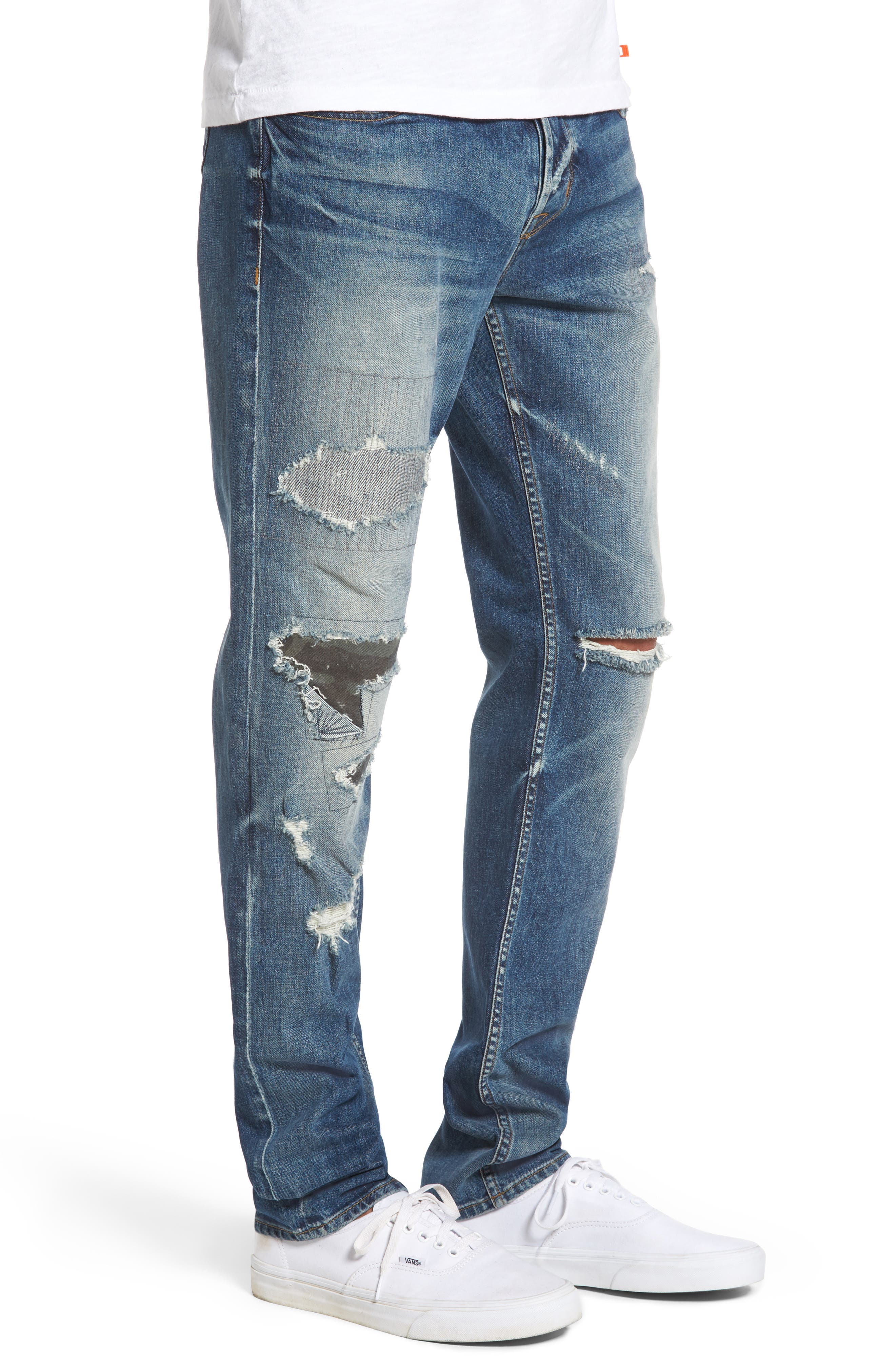 Sartor Slouchy Skinny Jeans,                             Alternate thumbnail 3, color,                             421