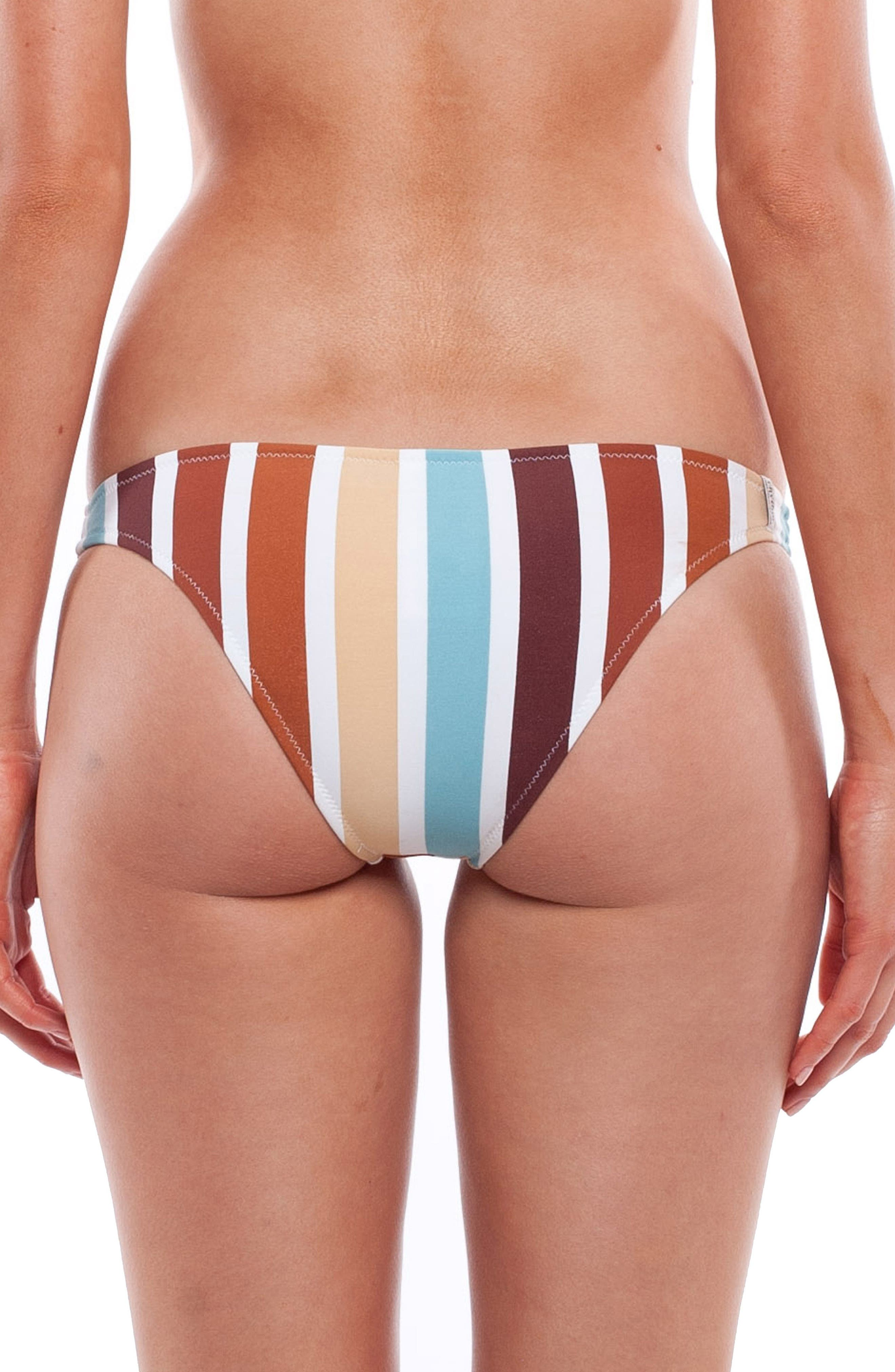 Zimbabwe Cheeky Bikini Bottoms,                             Alternate thumbnail 2, color,                             BLUE MULTI