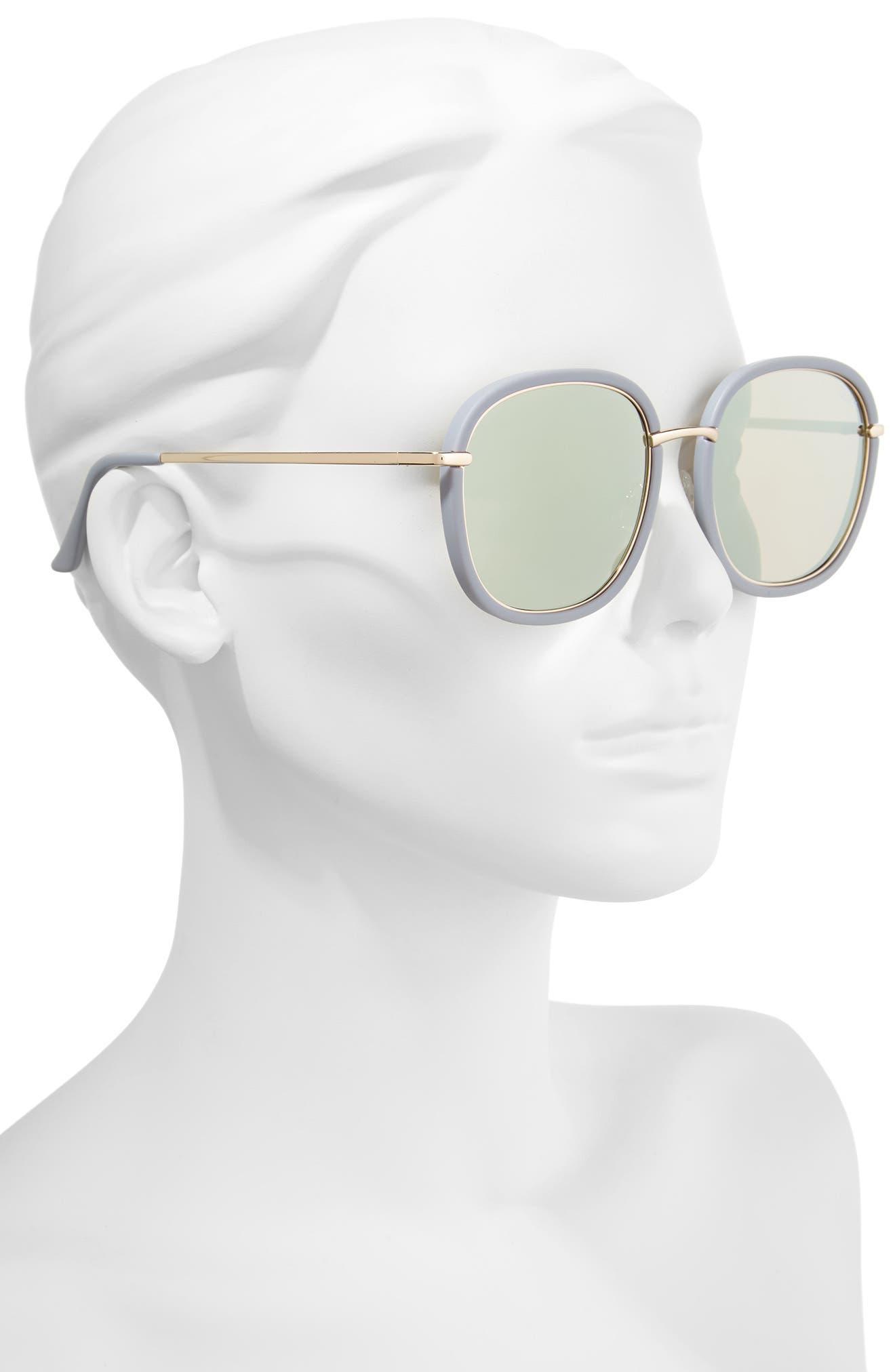 Dreamy Ways 57mm Rectangular Sunglasses,                             Alternate thumbnail 4, color,