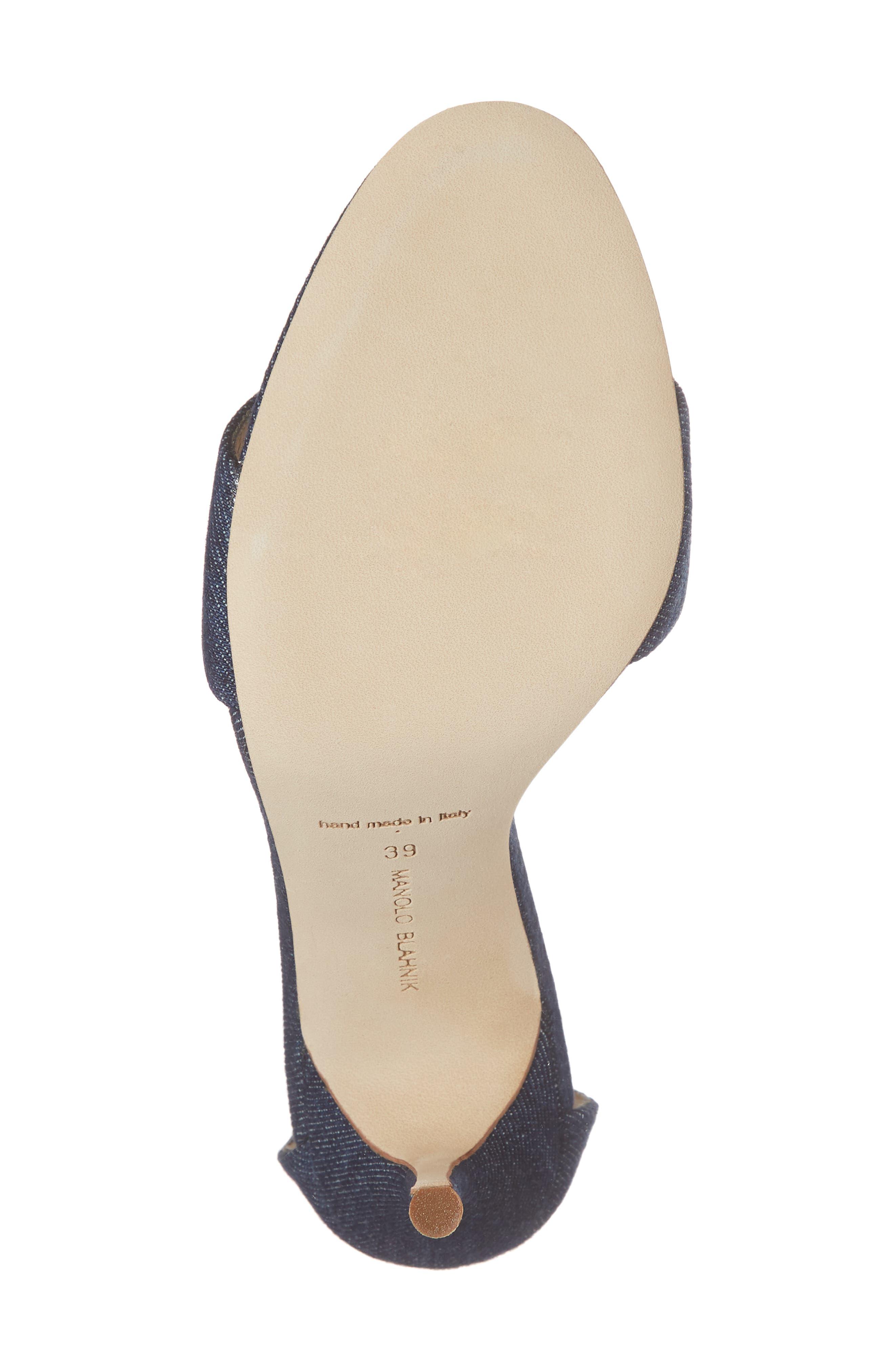 Tres Ankle Strap Sandal,                             Alternate thumbnail 6, color,                             DENIM BLUE
