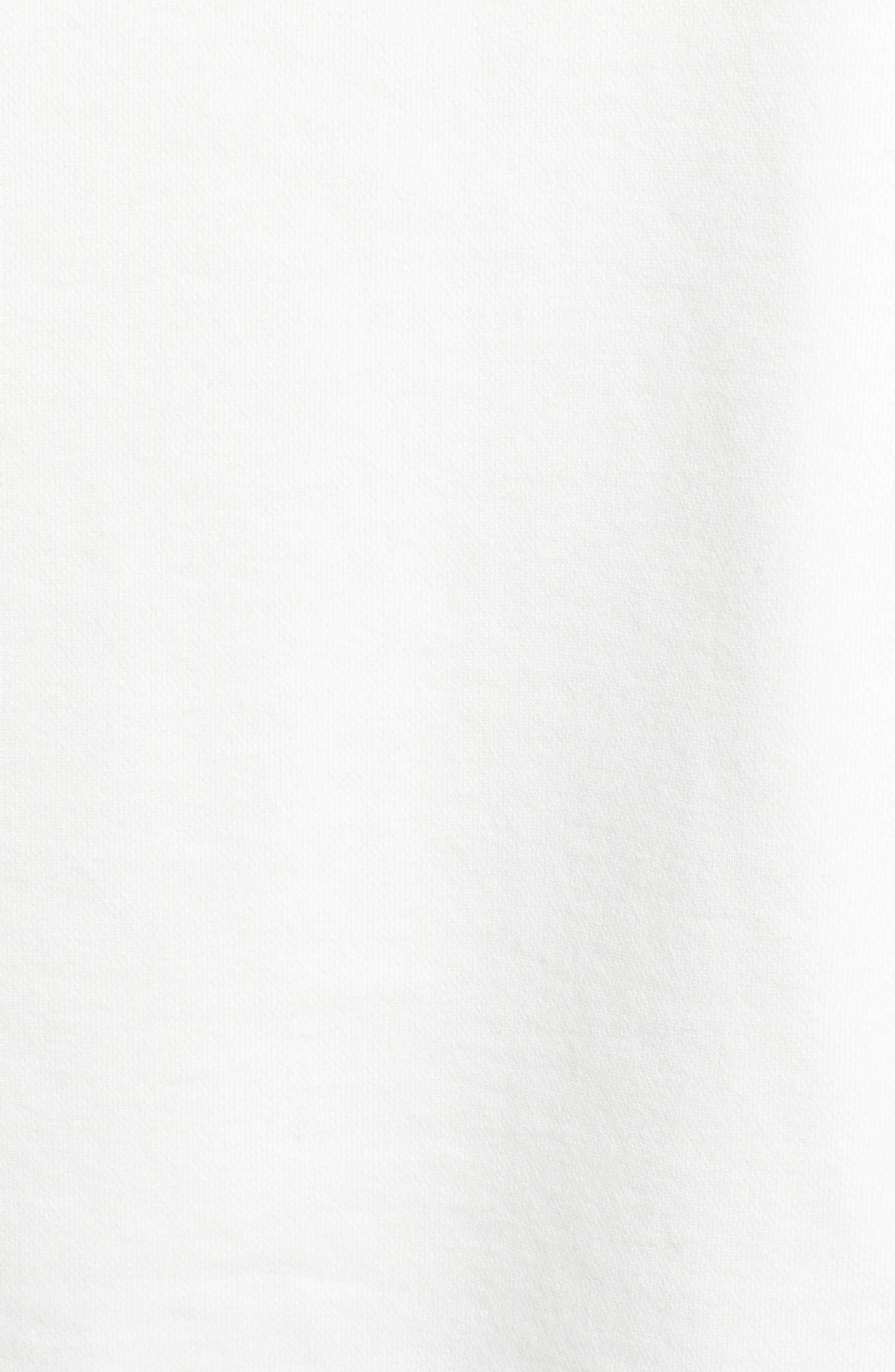 Drawstring Crop Hoodie,                             Alternate thumbnail 5, color,                             OPTIC WHITE