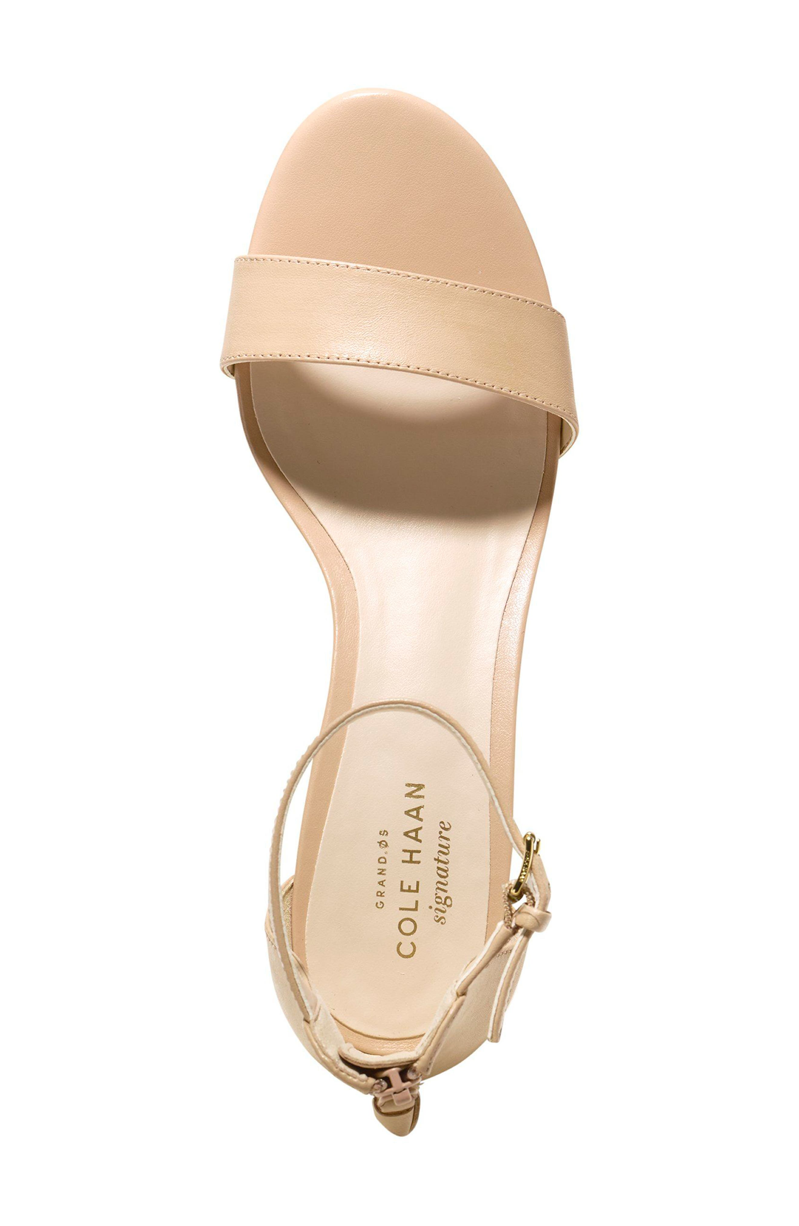 Adderly Sandal,                             Alternate thumbnail 3, color,                             NUDE LEATHER