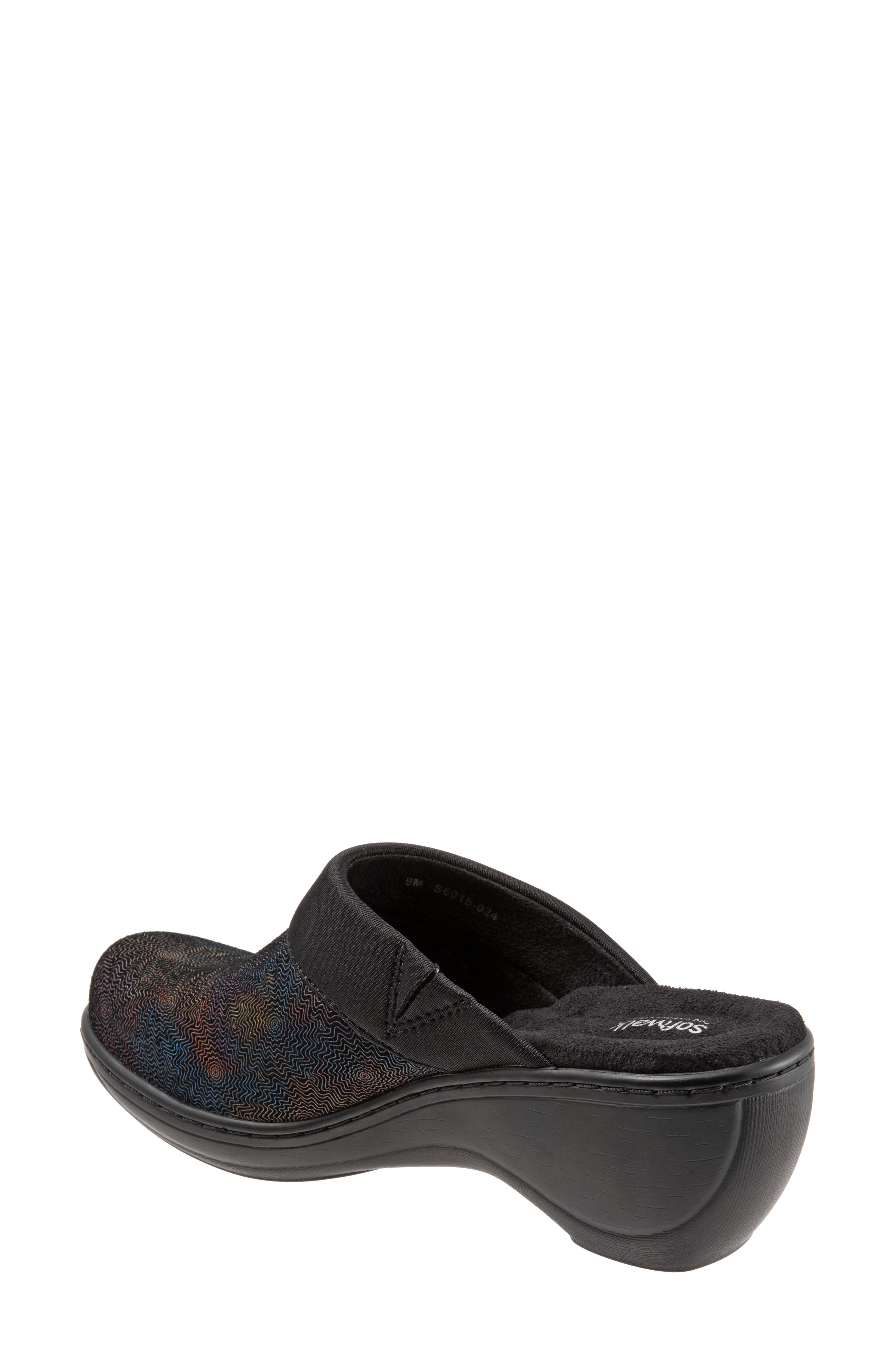 SOFTWALK<SUP>®</SUP>,                             'Murietta' Clog,                             Alternate thumbnail 2, color,                             BLACK MULTI LEATHER