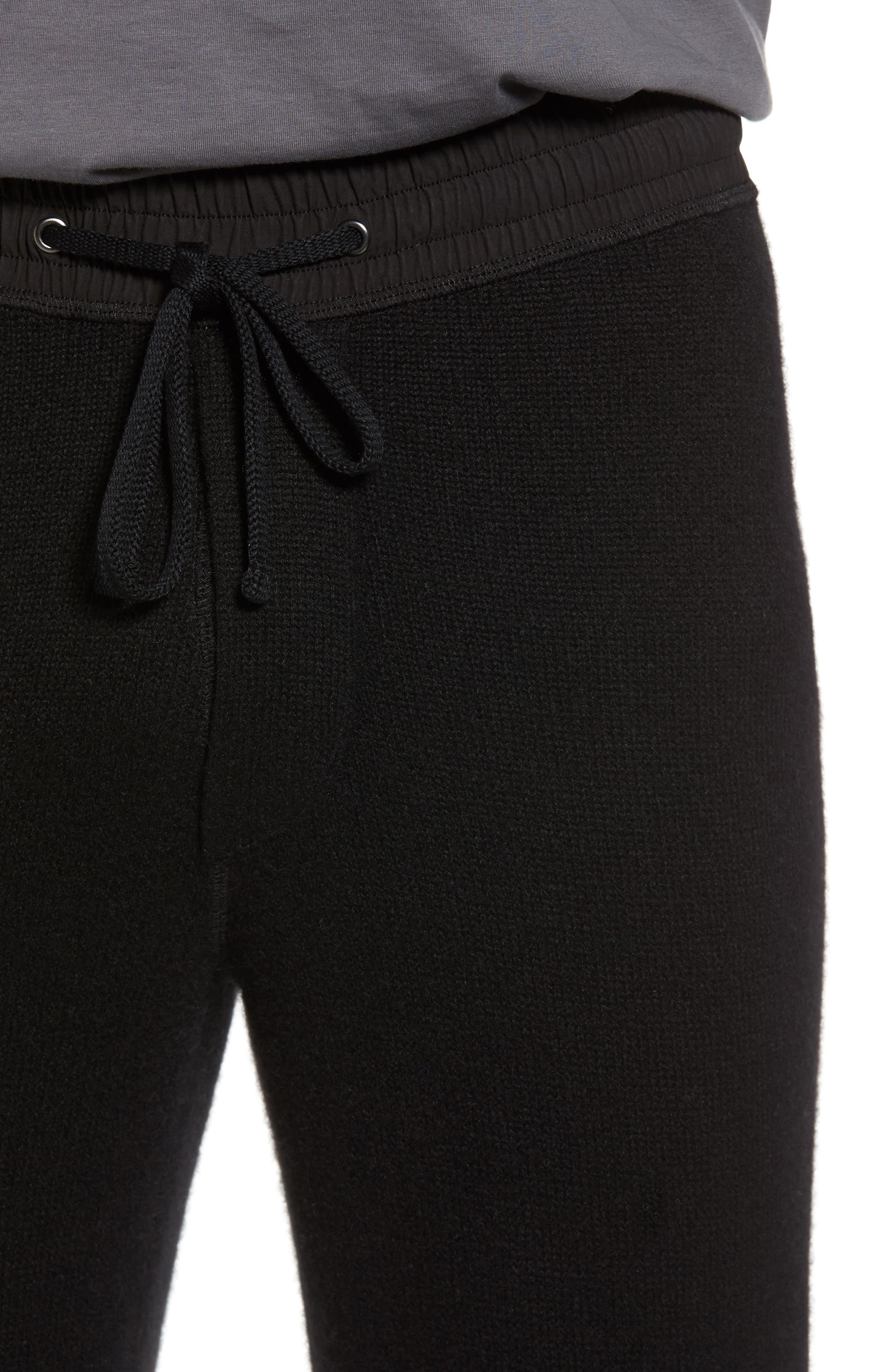 Cashmere Sweatpants,                             Alternate thumbnail 4, color,                             001