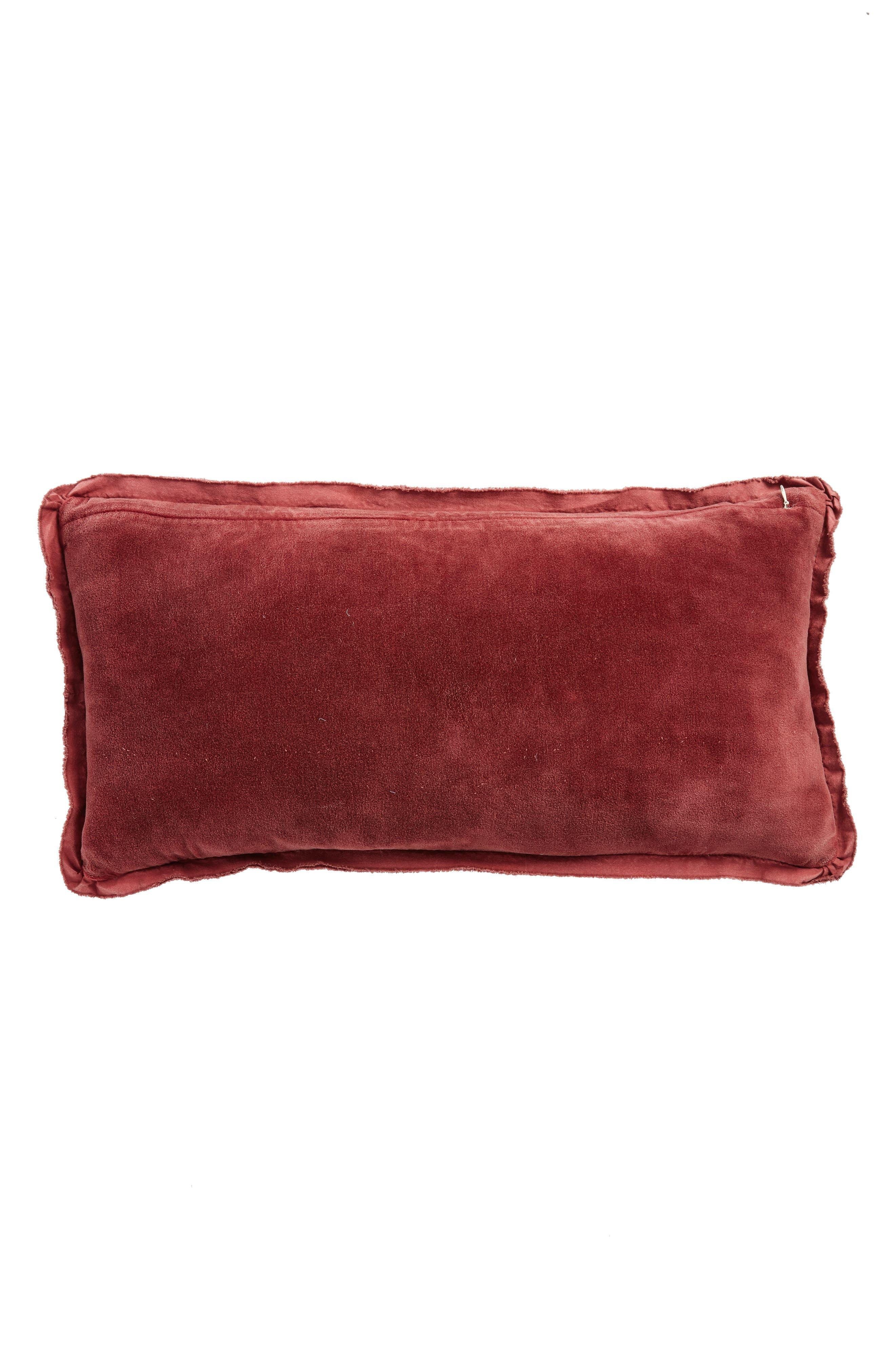 Velvet Accent Pillow,                             Alternate thumbnail 2, color,                             BROWN ROSE