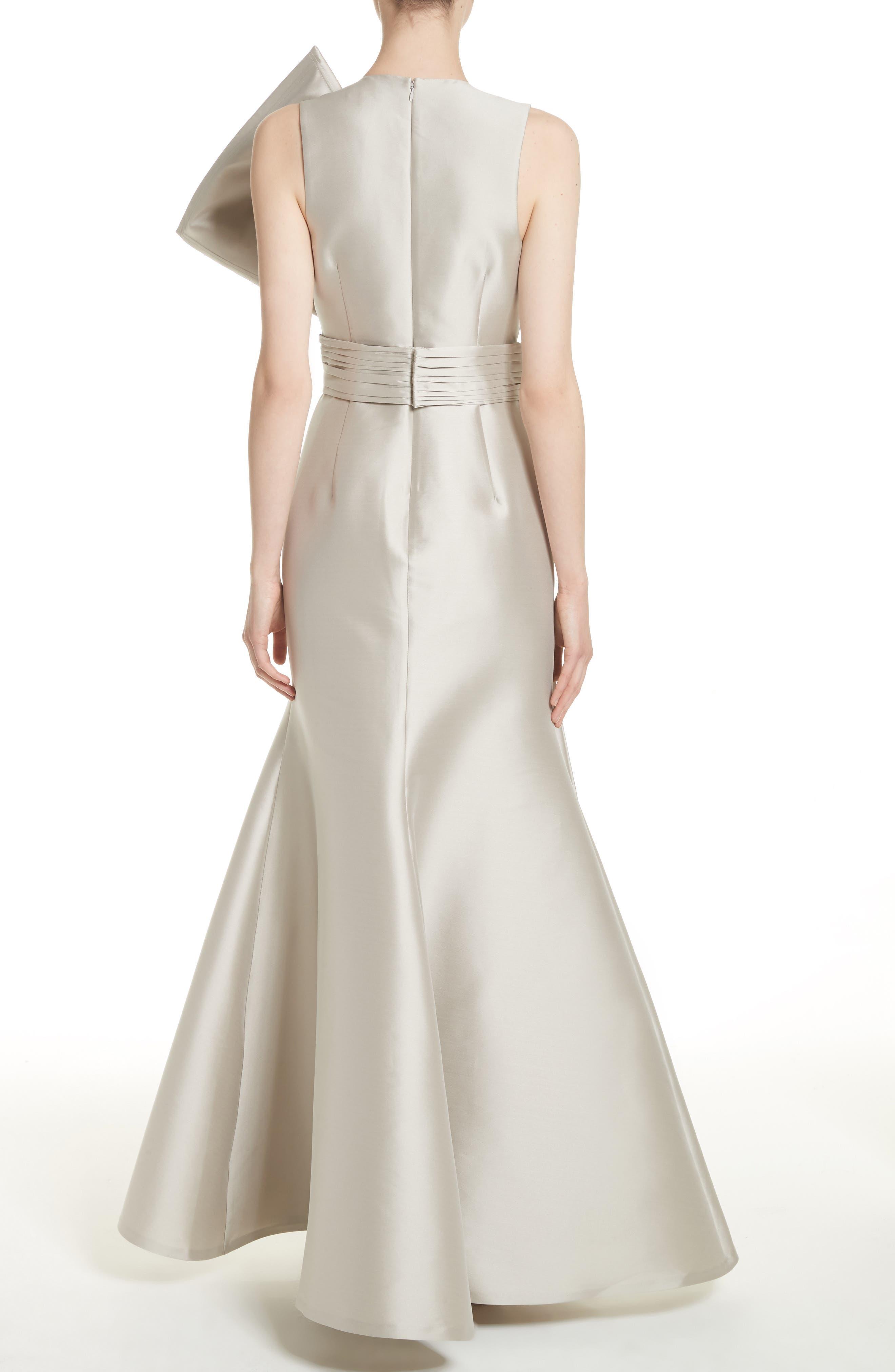 Noir Embellished V-Neck Gown,                             Alternate thumbnail 2, color,                             250