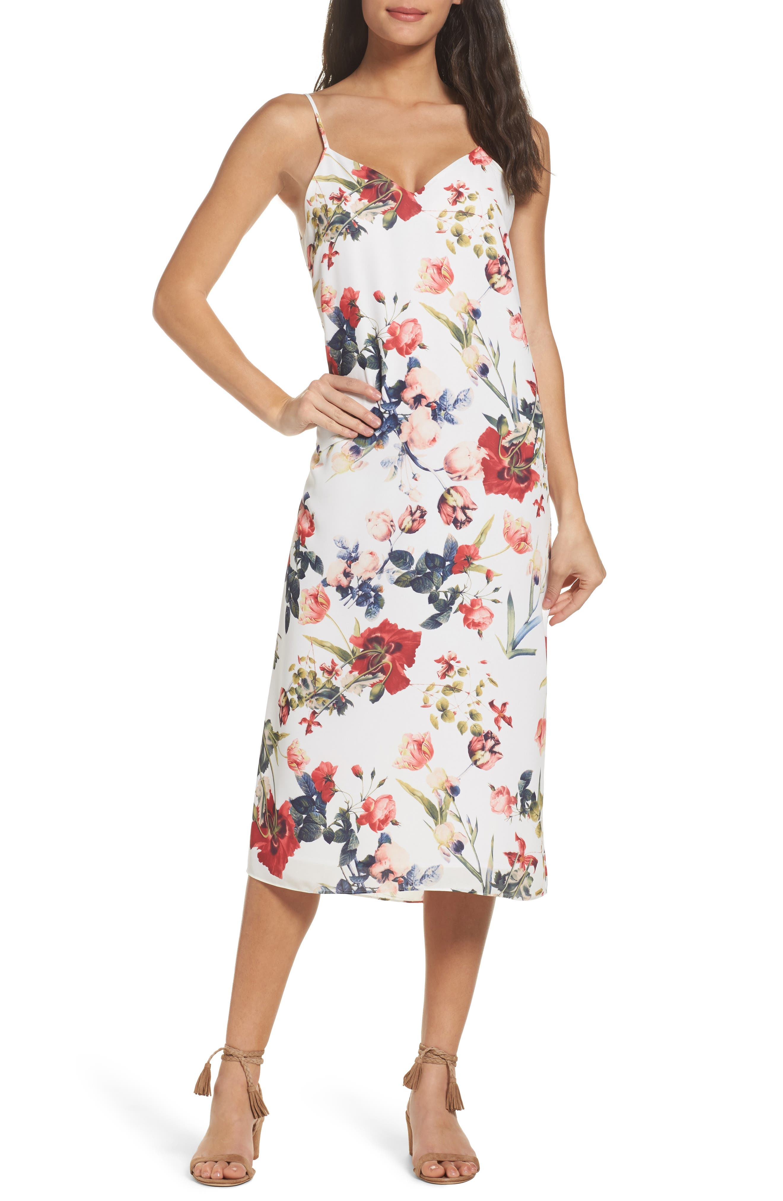 Dobby Midi Dress,                             Main thumbnail 1, color,                             111