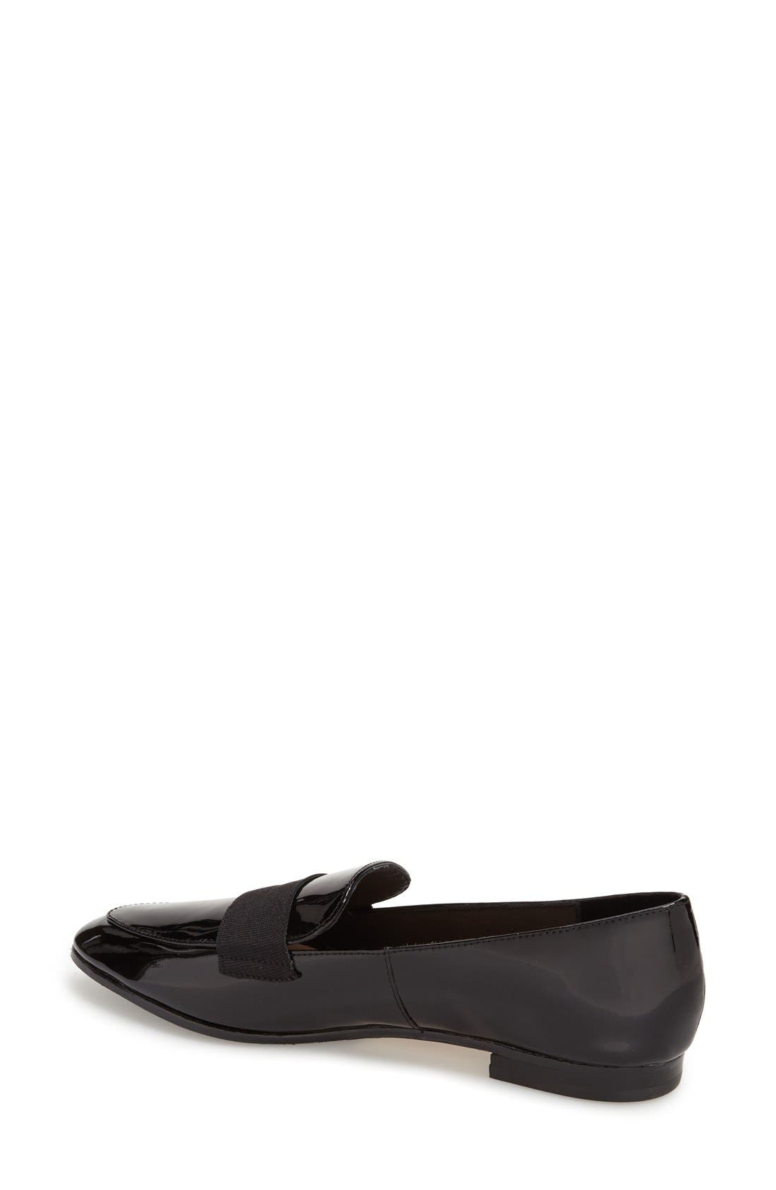 'corina' pointy toe loafer,                             Alternate thumbnail 4, color,                             001