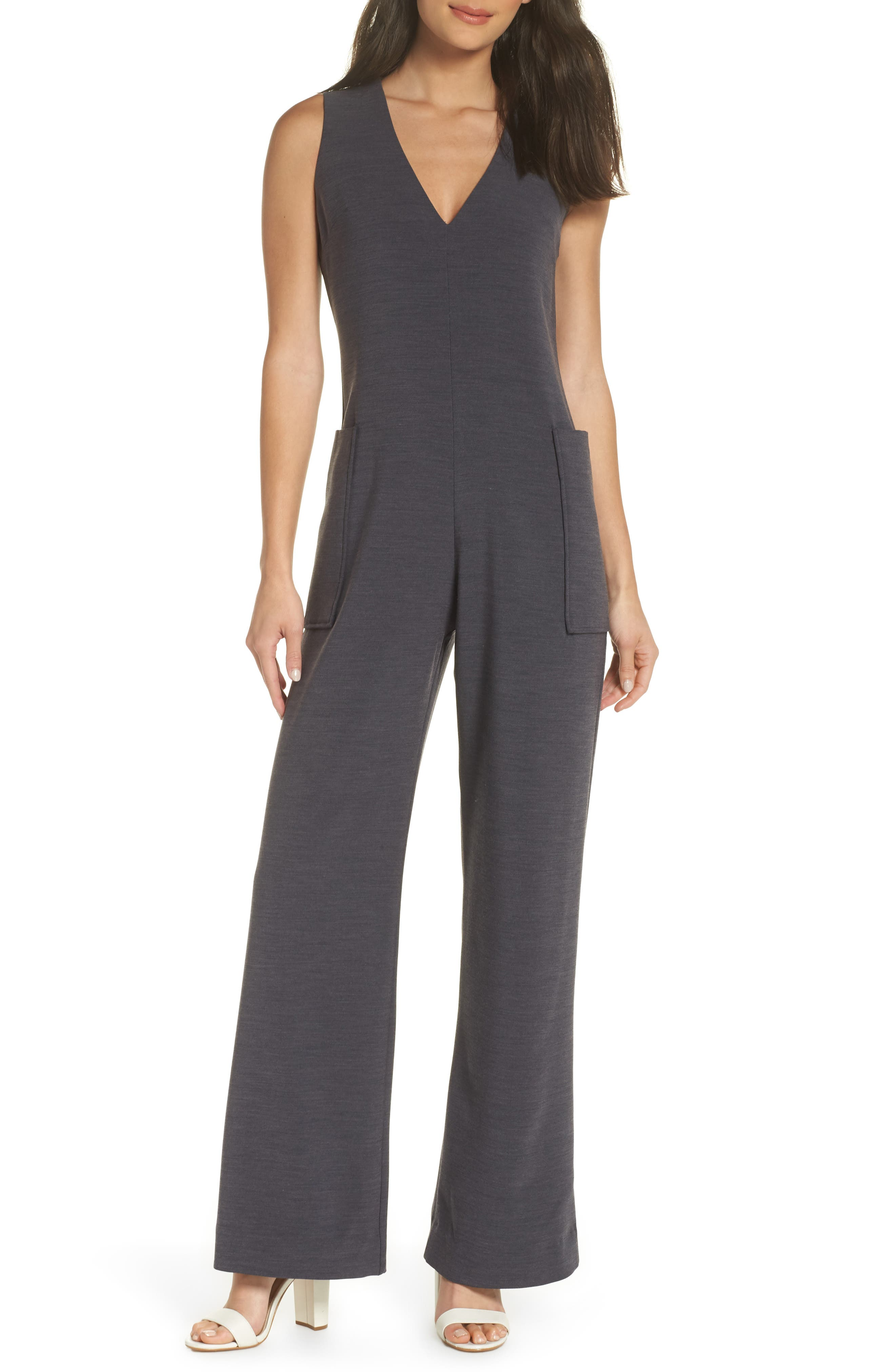 Harbor V-Neck Jumpsuit,                             Main thumbnail 1, color,                             020