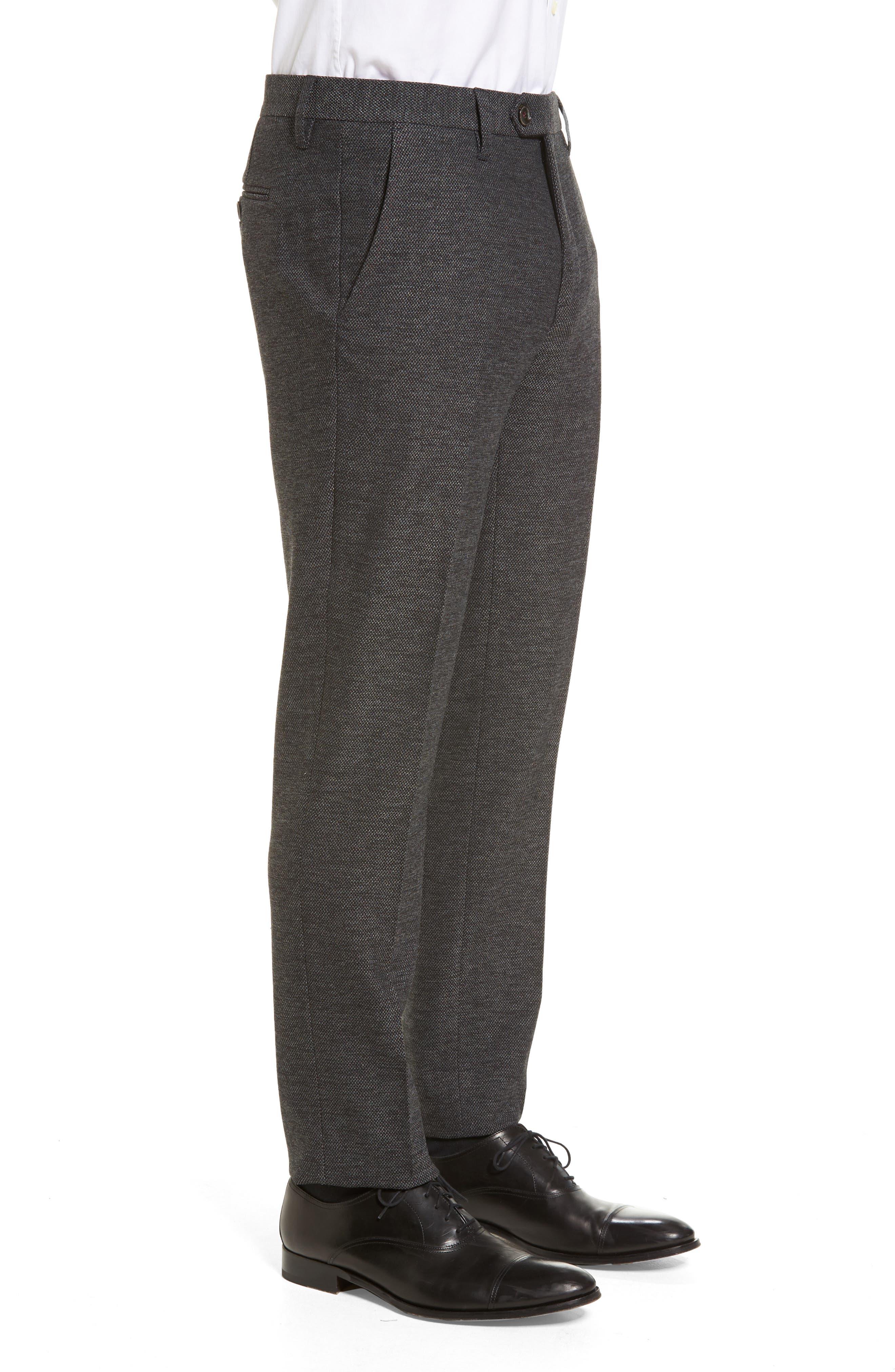 Porttro Modern Slim Fit Trousers,                             Alternate thumbnail 4, color,                             010