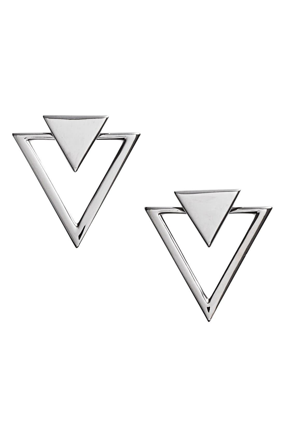 Triangle Stud Earrings,                             Main thumbnail 2, color,