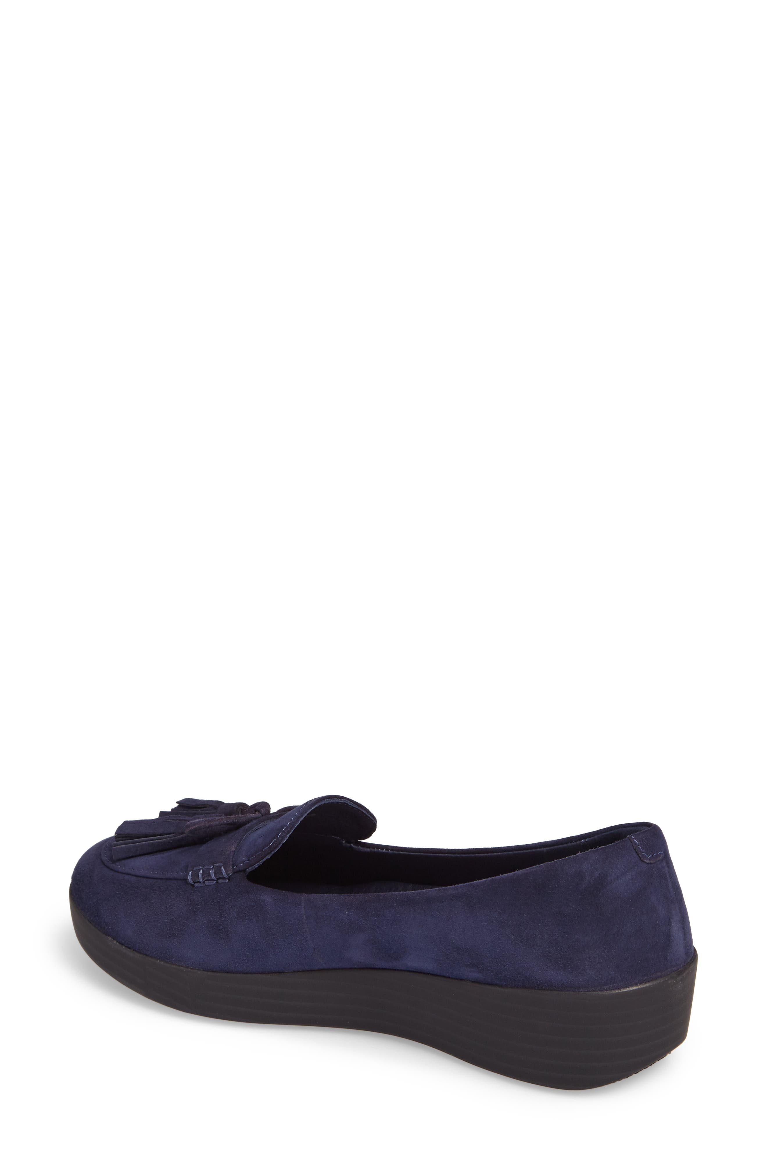 Tassel Bow Sneakerloafer<sup>™</sup> Water Repellent Flat,                             Alternate thumbnail 7, color,
