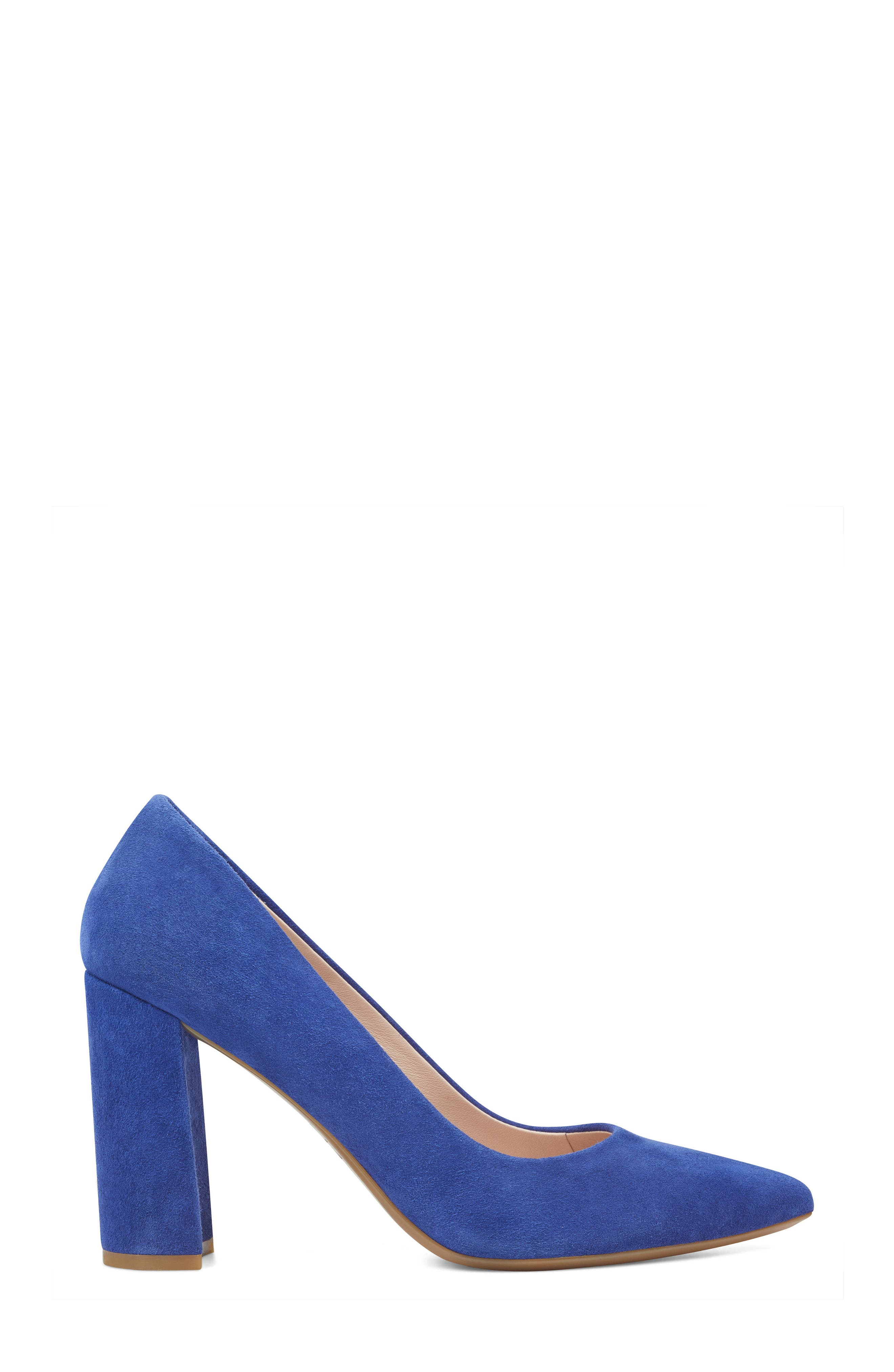 Astoria Pump,                             Alternate thumbnail 3, color,                             DARK BLUE SUEDE