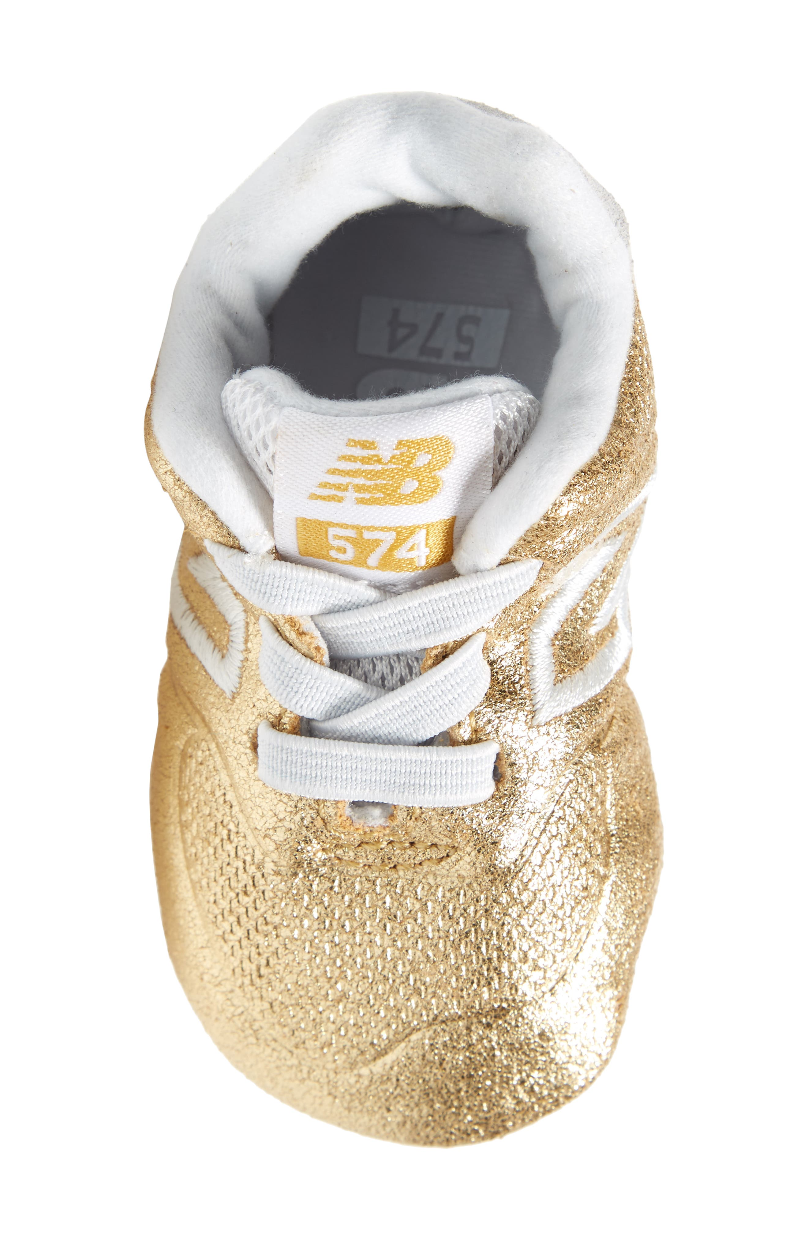 574 Metallic Crib Sneaker,                             Alternate thumbnail 10, color,