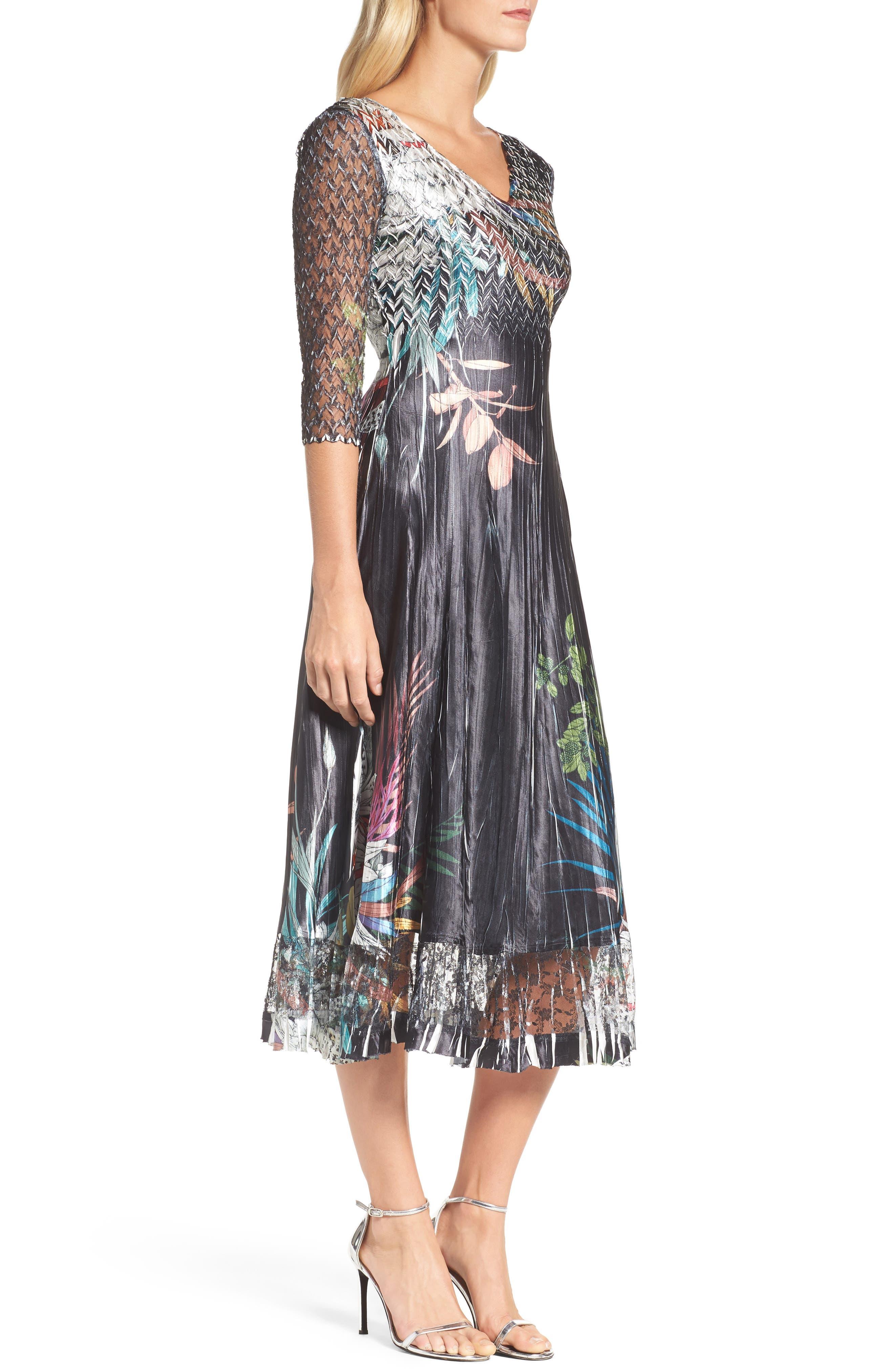 Print Sash Maxi Dress,                             Alternate thumbnail 3, color,                             039