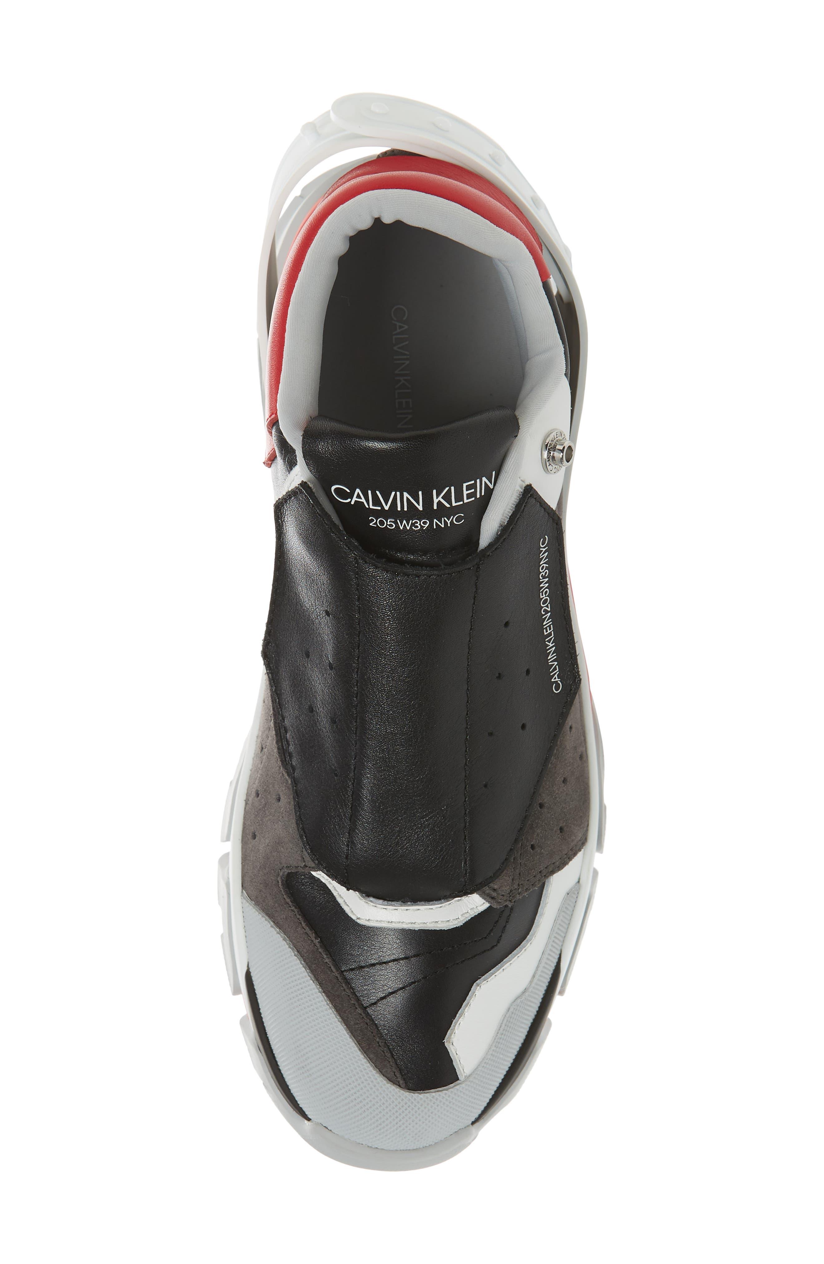 Cander 7 Sneaker,                             Alternate thumbnail 5, color,                             BLACK/ WHITE/ RED/ GREY
