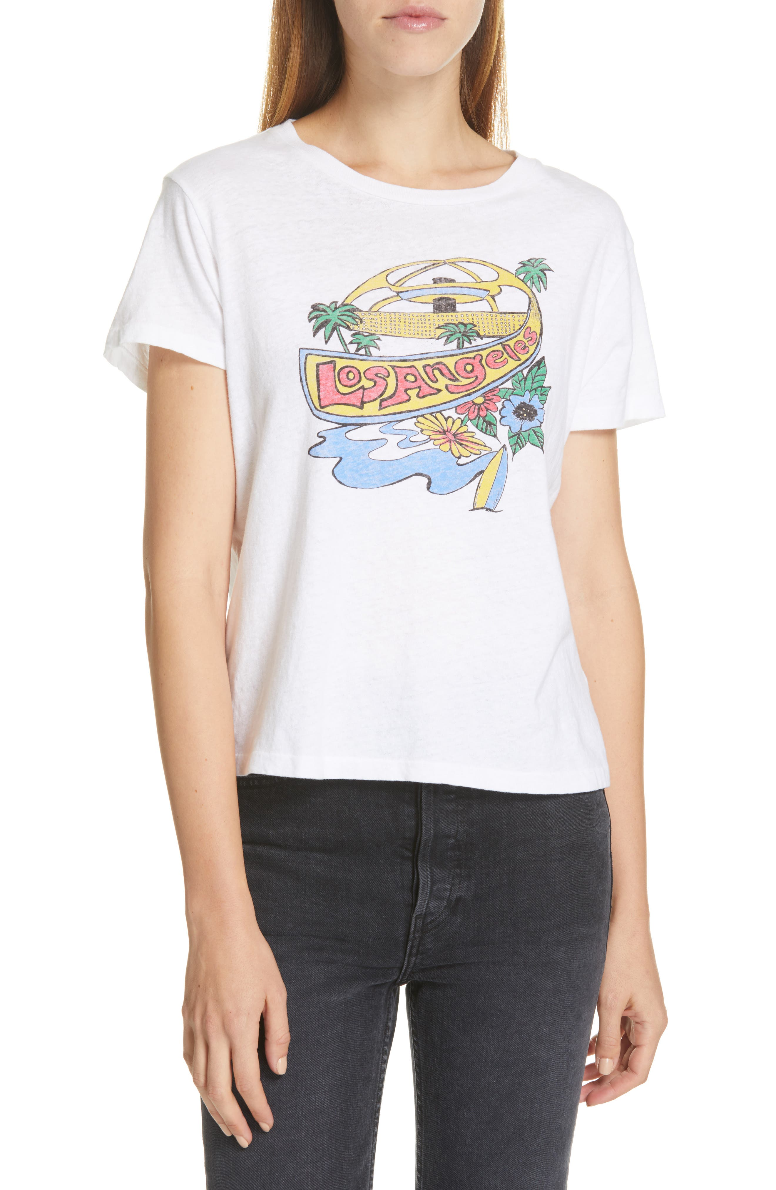 Re/done The Classic Lax Print Tee, White