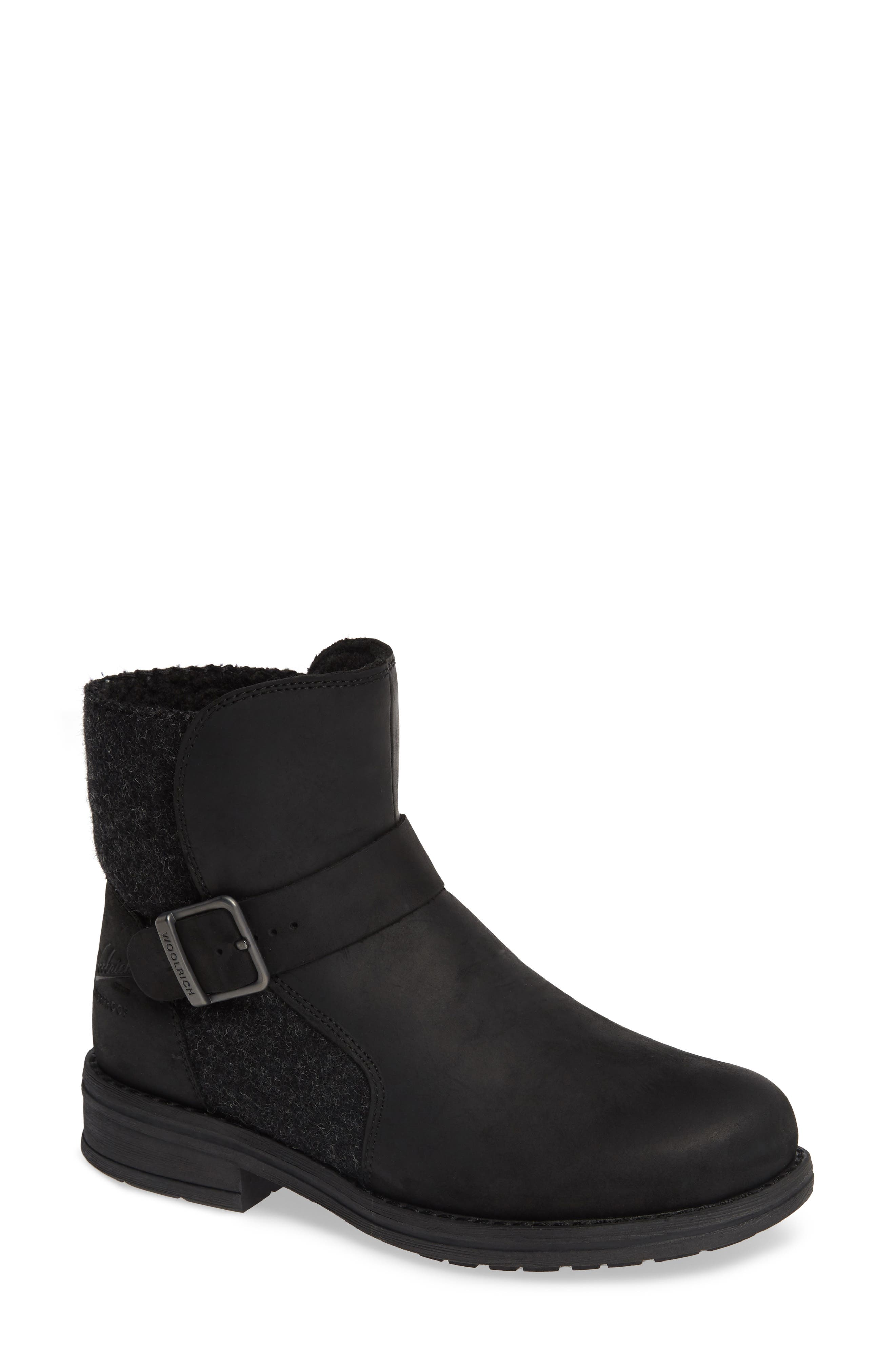 Pioneer Bootie,                             Main thumbnail 1, color,                             BLACK LEATHER