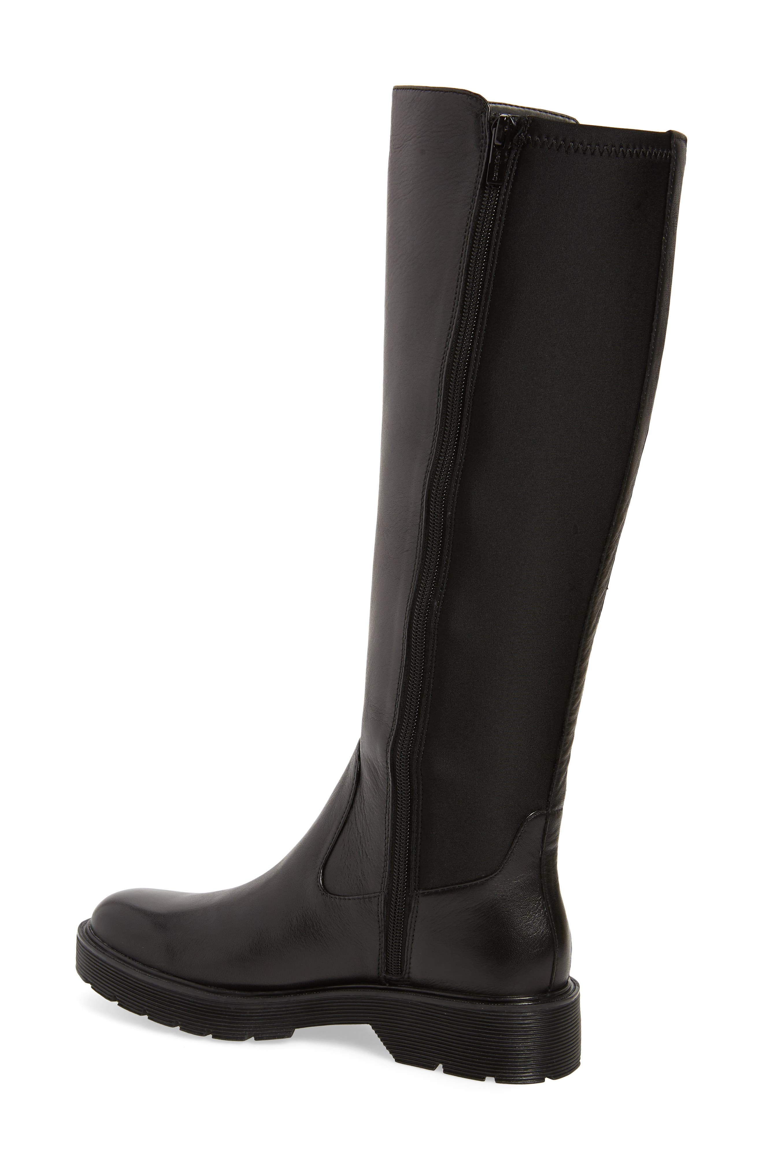 CALVIN KLEIN,                             Themis Knee High Riding Boot,                             Alternate thumbnail 2, color,                             BLACK LEATHER