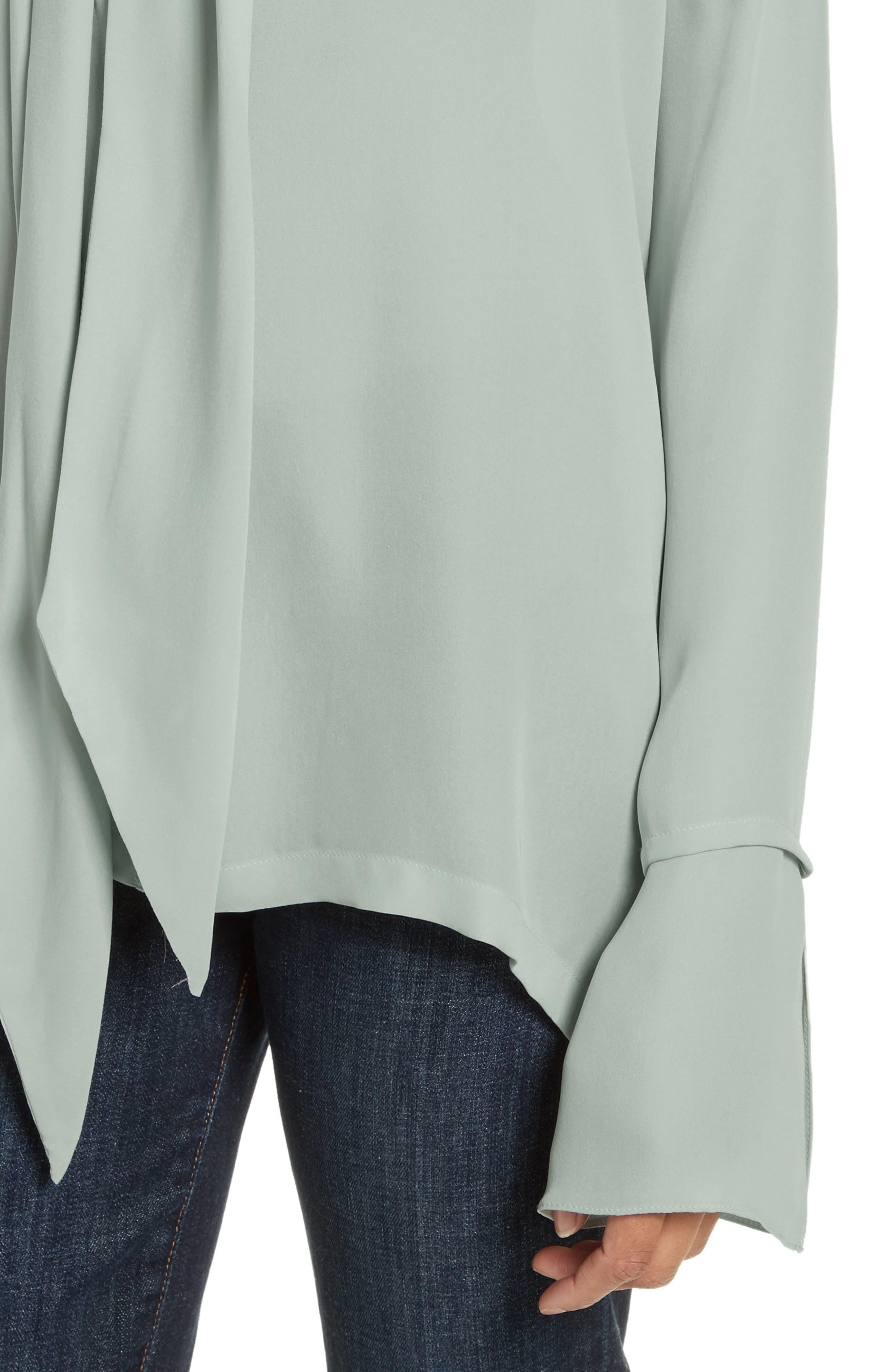Silk Scarf Shirt,                             Alternate thumbnail 4, color,                             392
