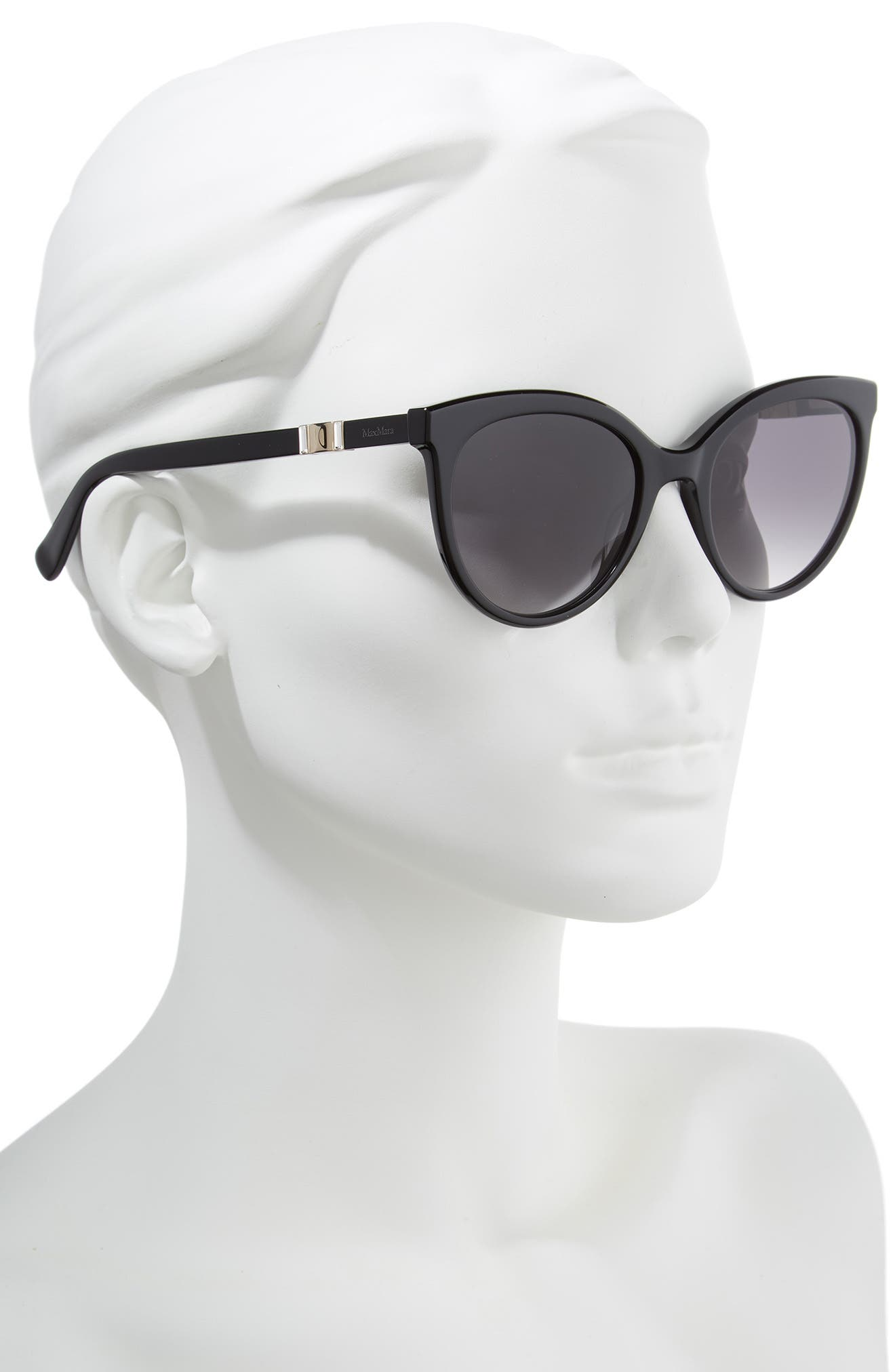 Jeweliis 54mm Gradient Cat Eye Sunglasses,                             Alternate thumbnail 2, color,                             BLACK
